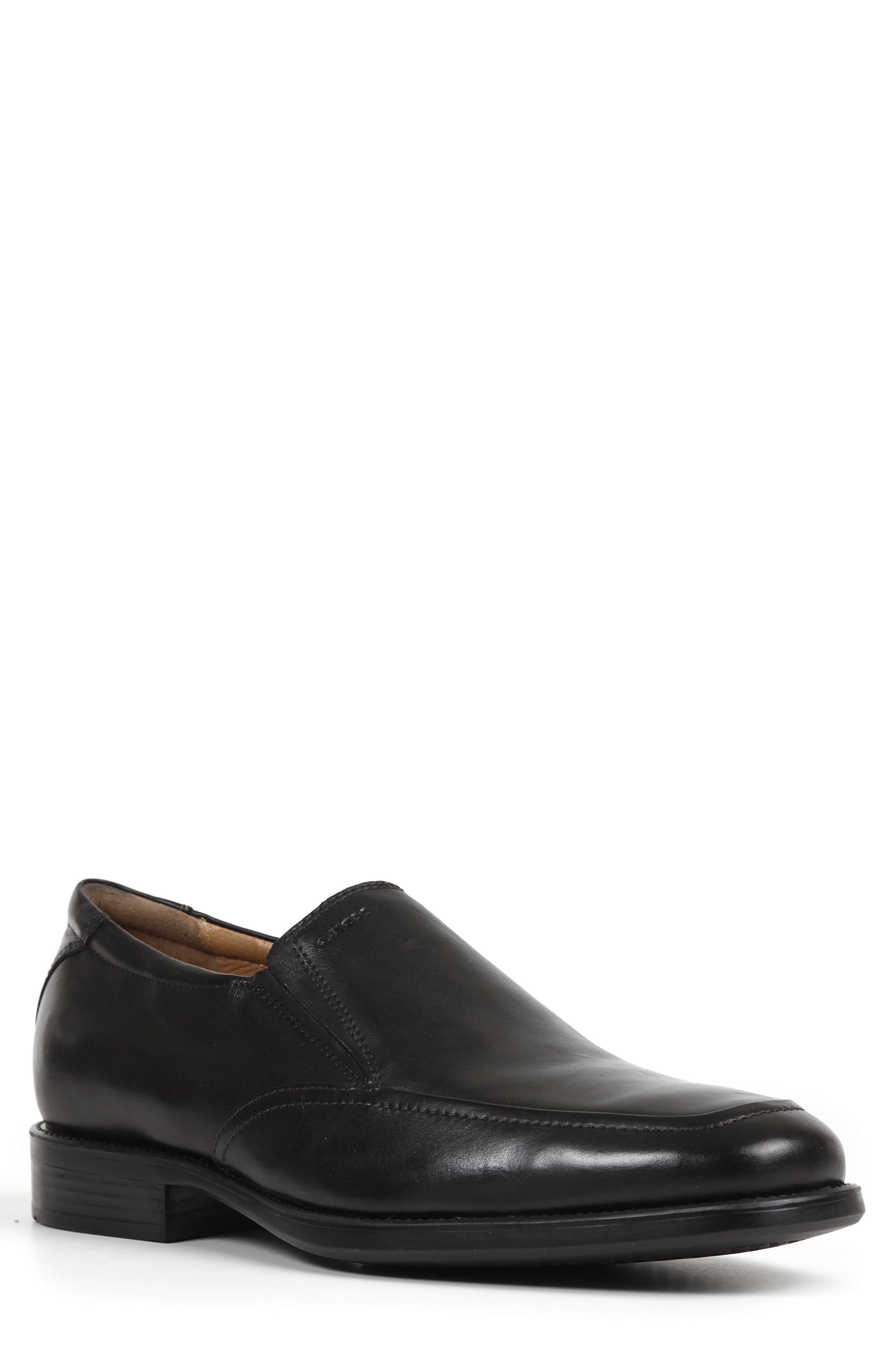 GEOX Federico 9 Venetian Slip-On, Main, color, BLACK LEATHER