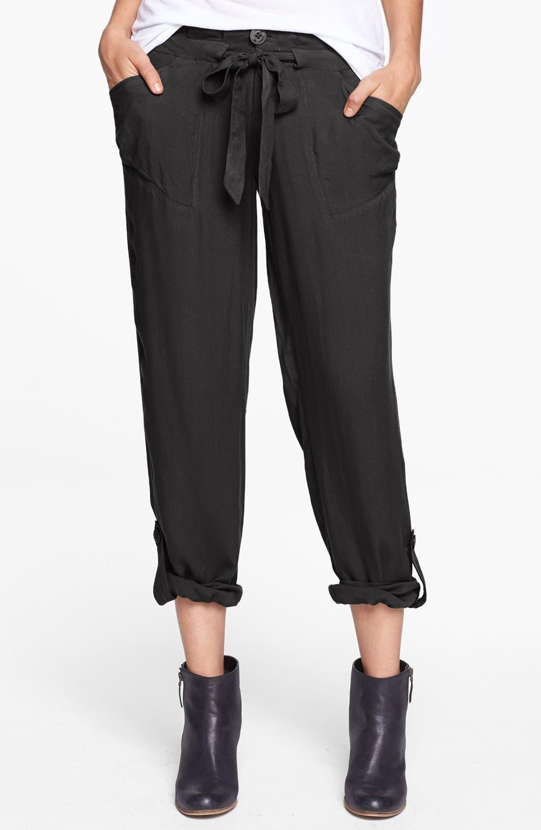 JOLT, Drawstring Woven Pants, Main thumbnail 1, color, 001