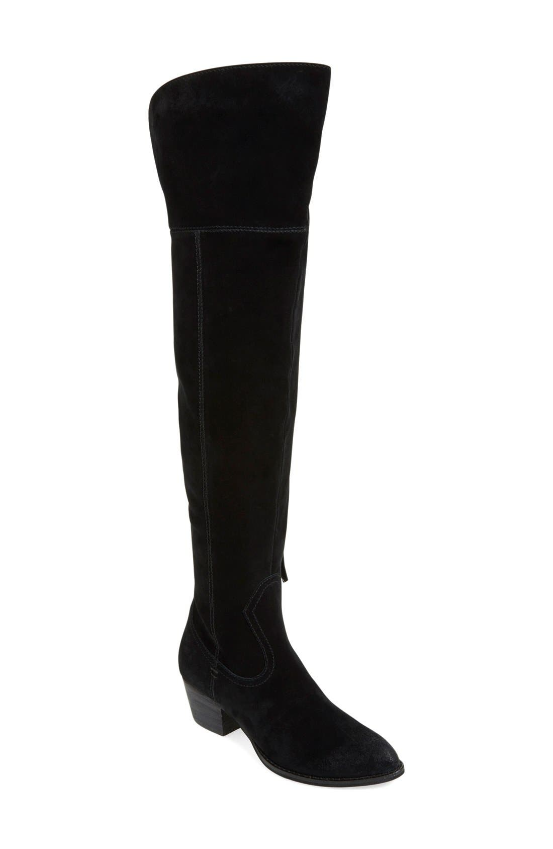 DOLCE VITA, 'Silas' Over the Knee Boot, Main thumbnail 1, color, 001