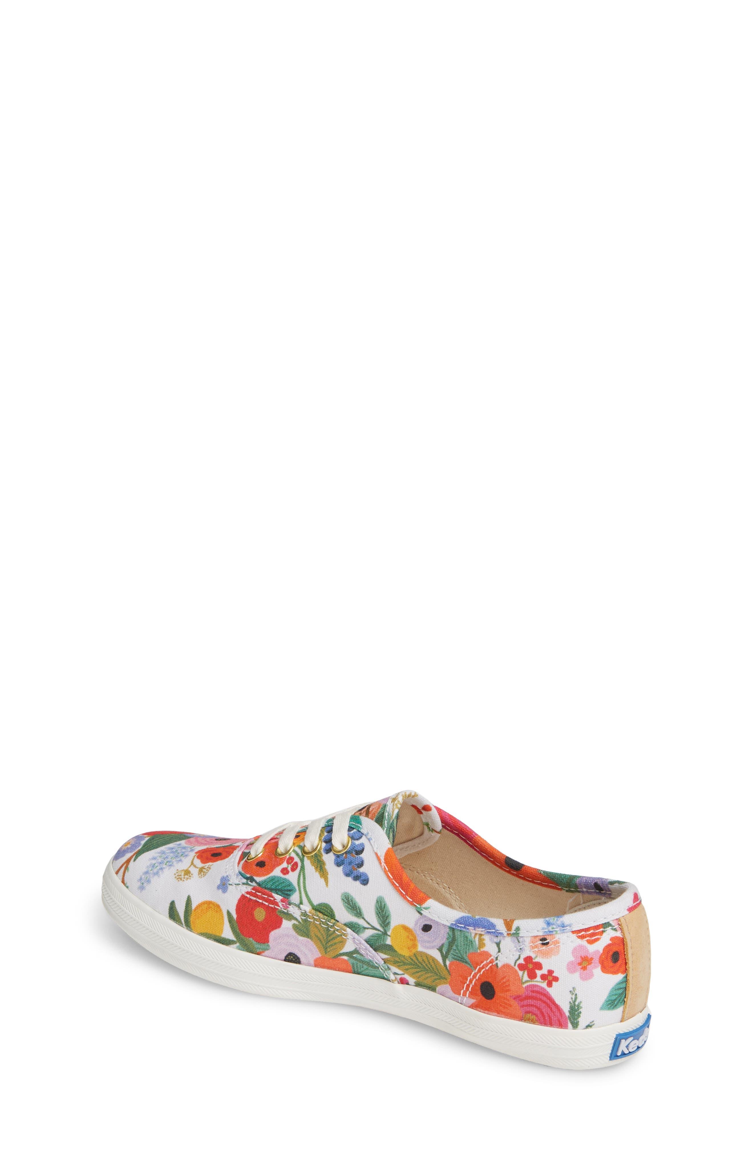 KEDS<SUP>®</SUP>, x Rifle Paper Co. Floral Print Champion Sneaker, Alternate thumbnail 2, color, GARDEN PARTY