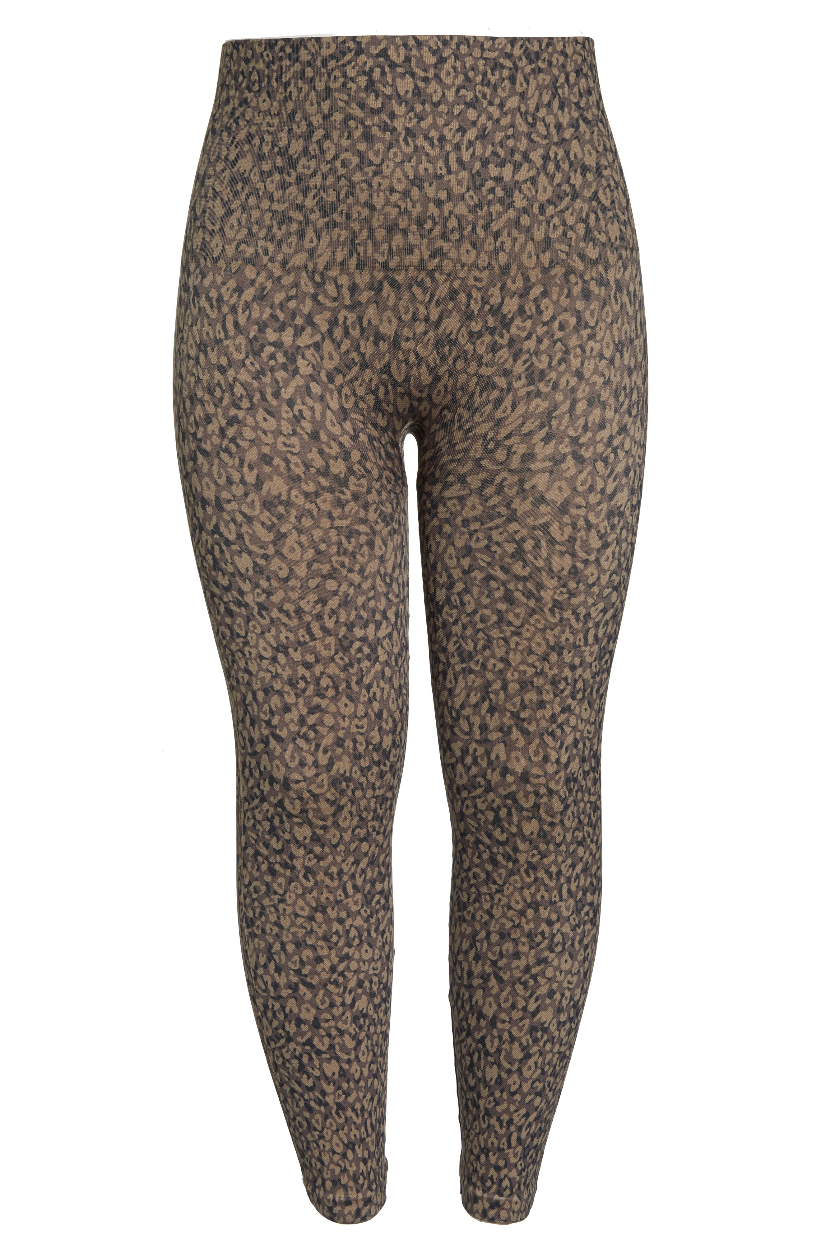 SPANX<SUP>®</SUP>, Look At Me Now Seamless Leggings, Alternate thumbnail 7, color, MINI LEOPARD