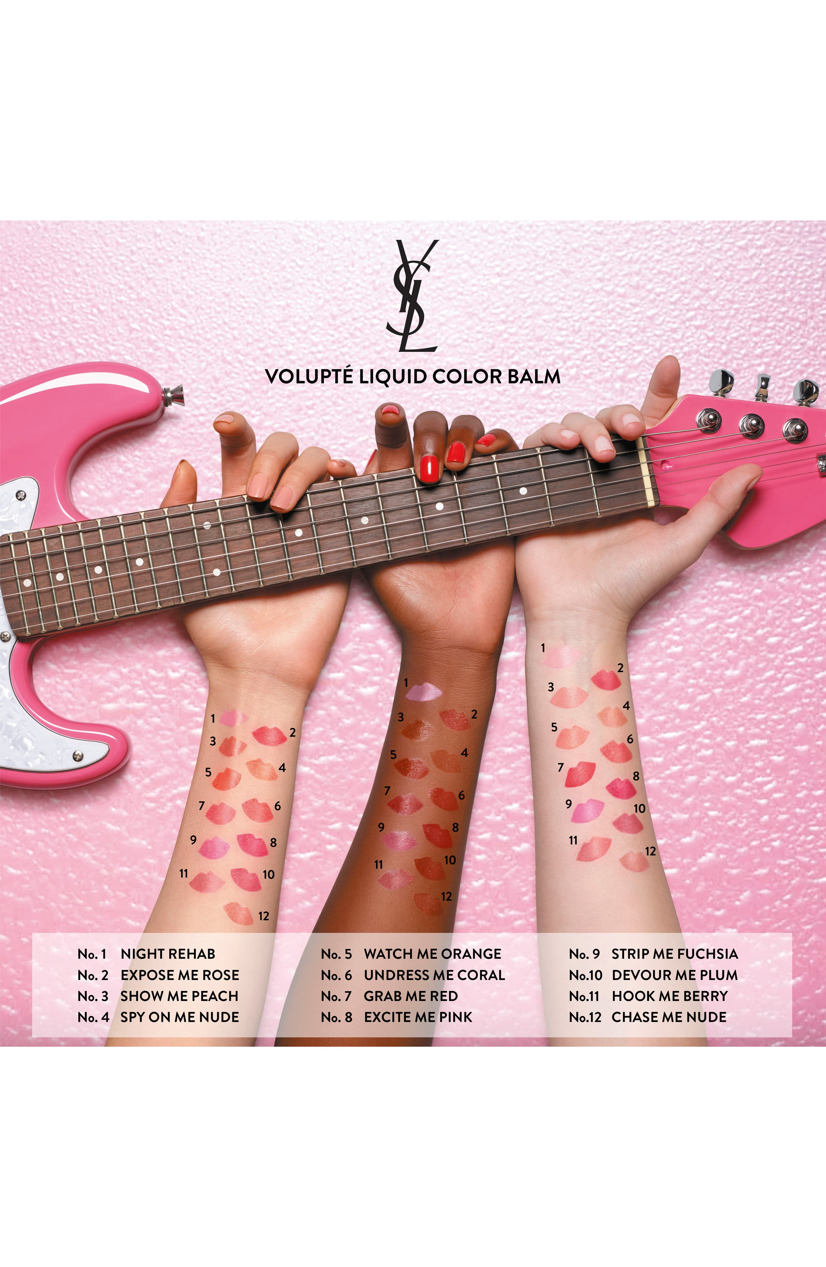 YVES SAINT LAURENT, Volupté Liquid Balm, Alternate thumbnail 3, color, 04 SPY ON ME NUDE