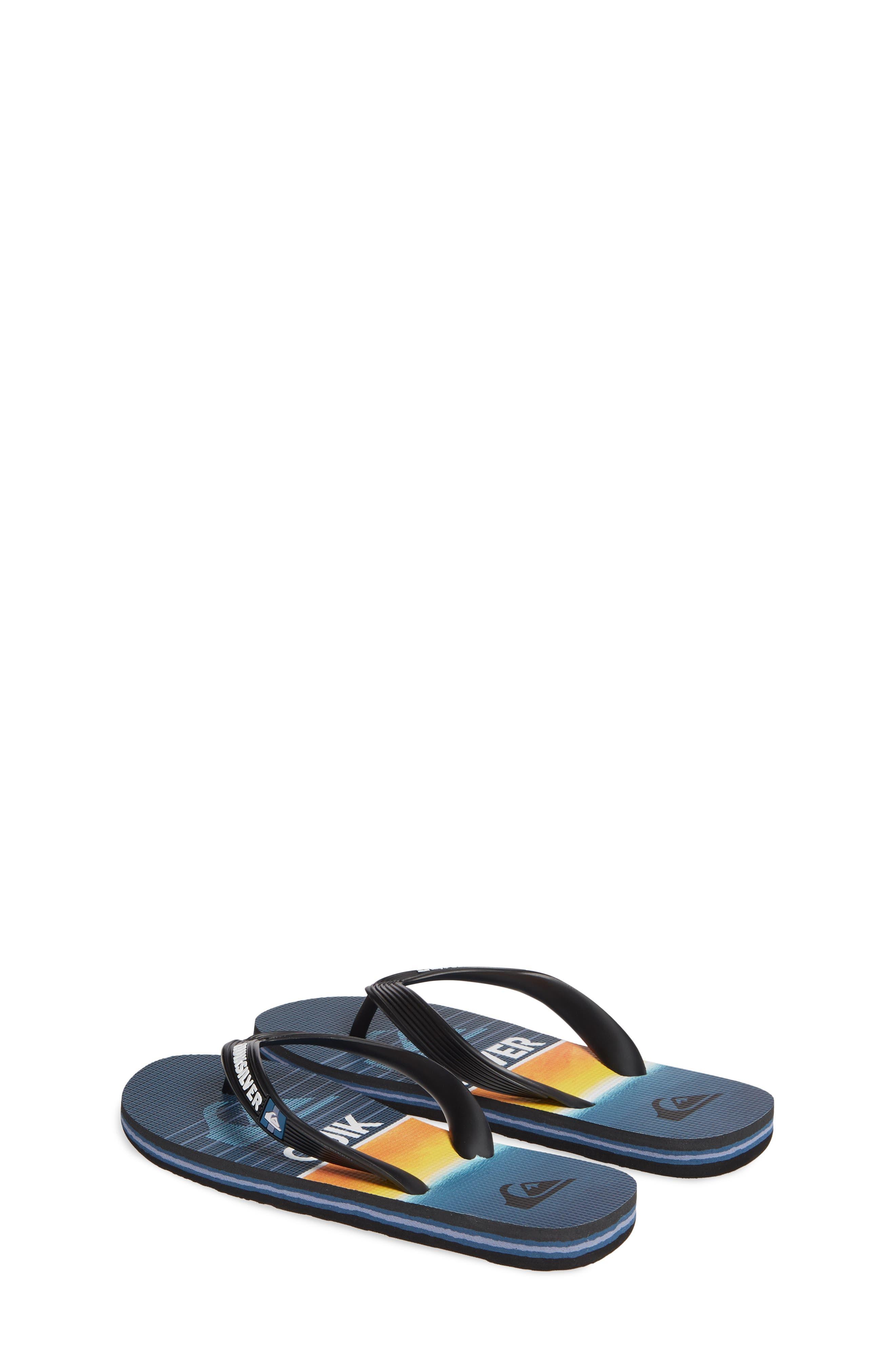 QUIKSILVER, Highline Slab Flip Flop, Alternate thumbnail 3, color, BLACK/ BLUE/ BLUE