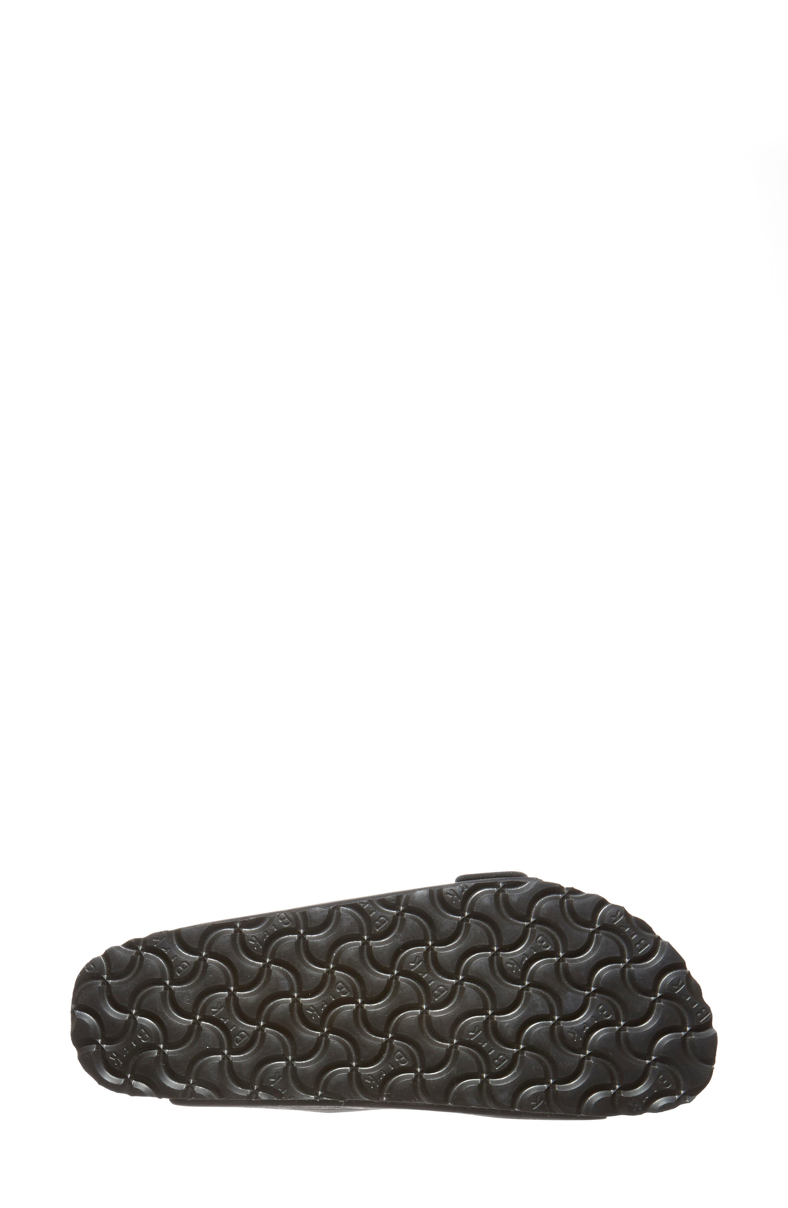 BIRKENSTOCK, Arizona Soft Footbed Sandal, Alternate thumbnail 4, color, BLACK/ BLACK