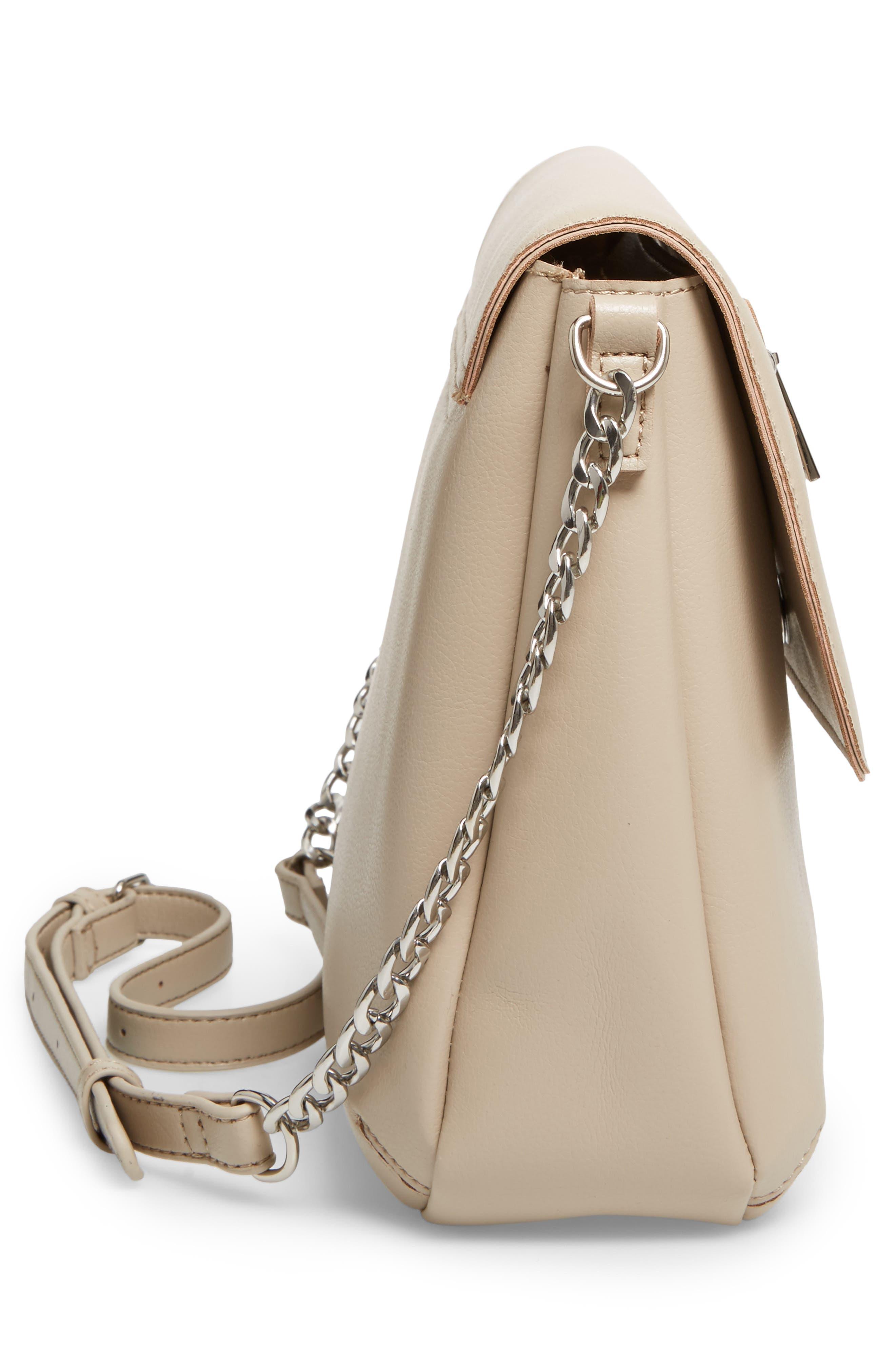 BP., Faux Leather Flap Crossbody Bag, Alternate thumbnail 5, color, 020