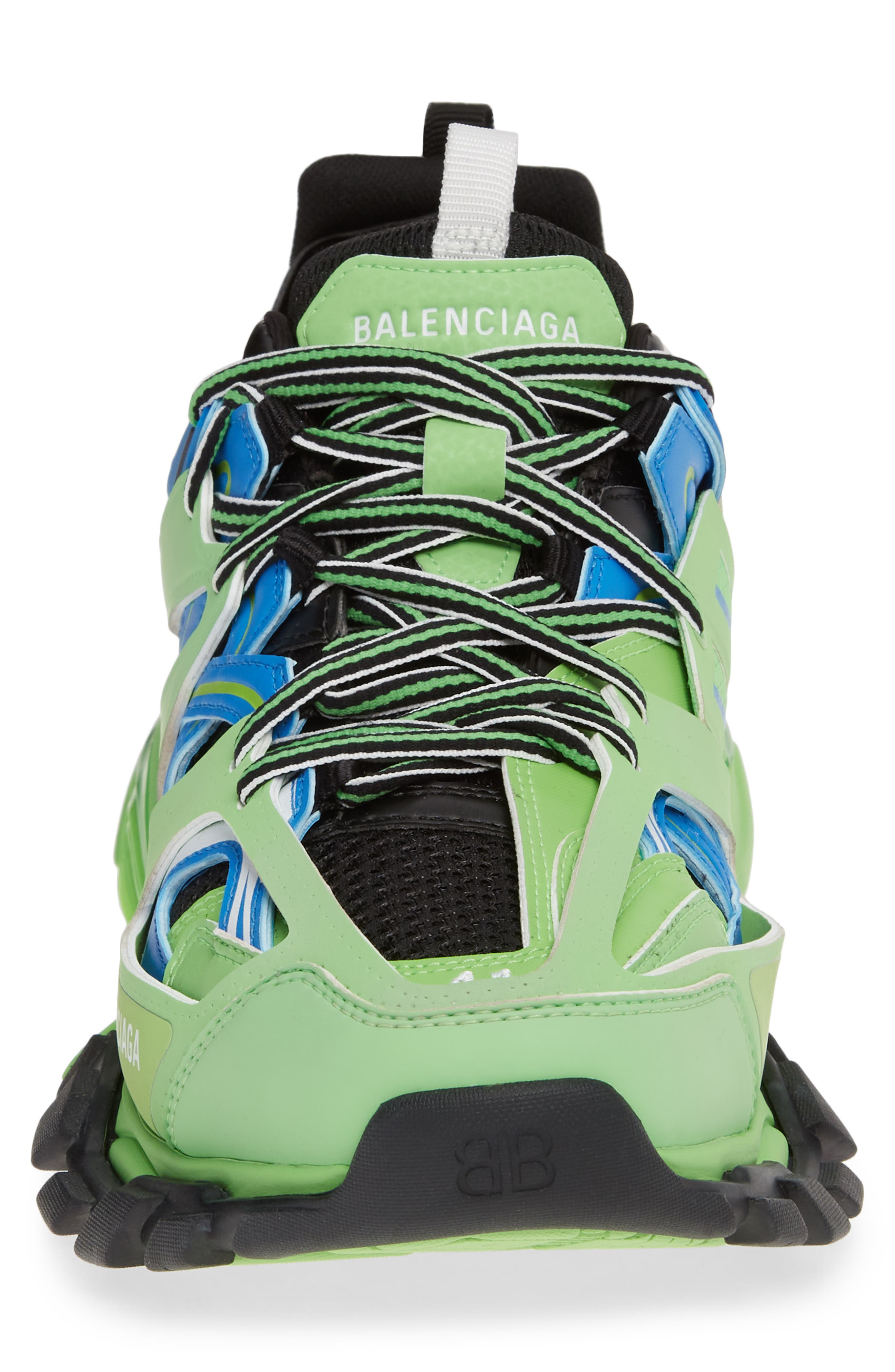 BALENCIAGA, Track Sneaker, Alternate thumbnail 4, color, 4078 BLUE/ GREEN