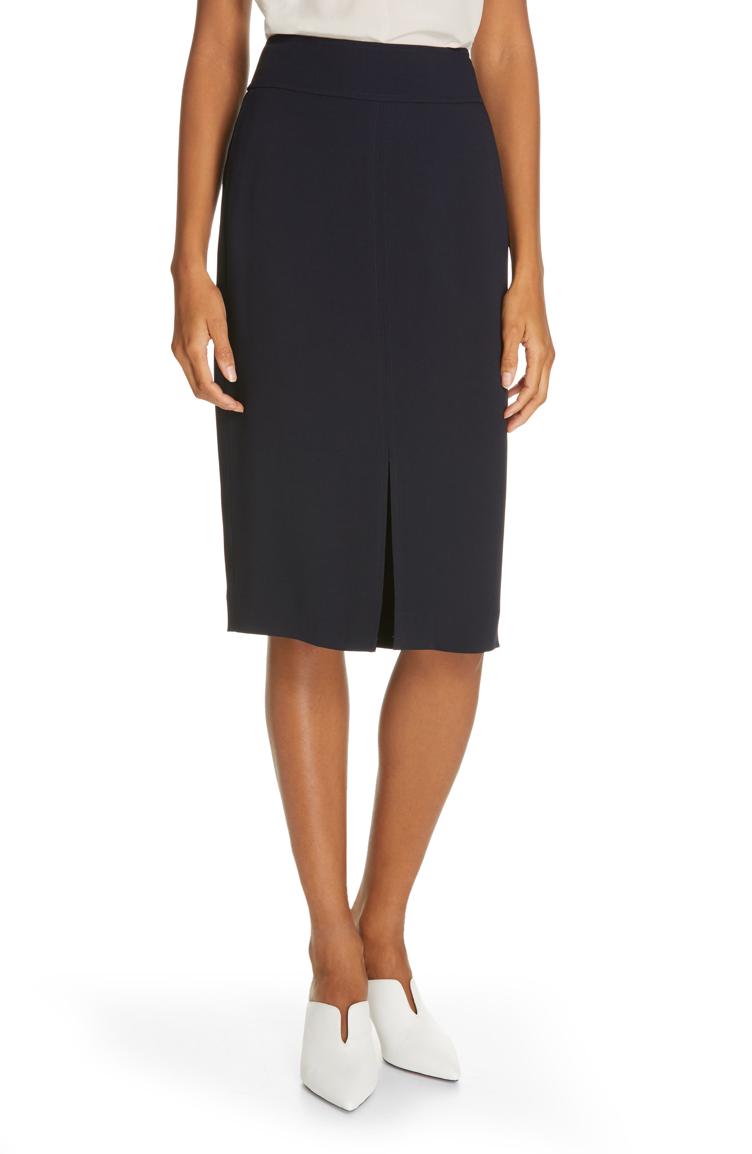 LEWIT Pencil Skirt, Main, color, NAVY NIGHT