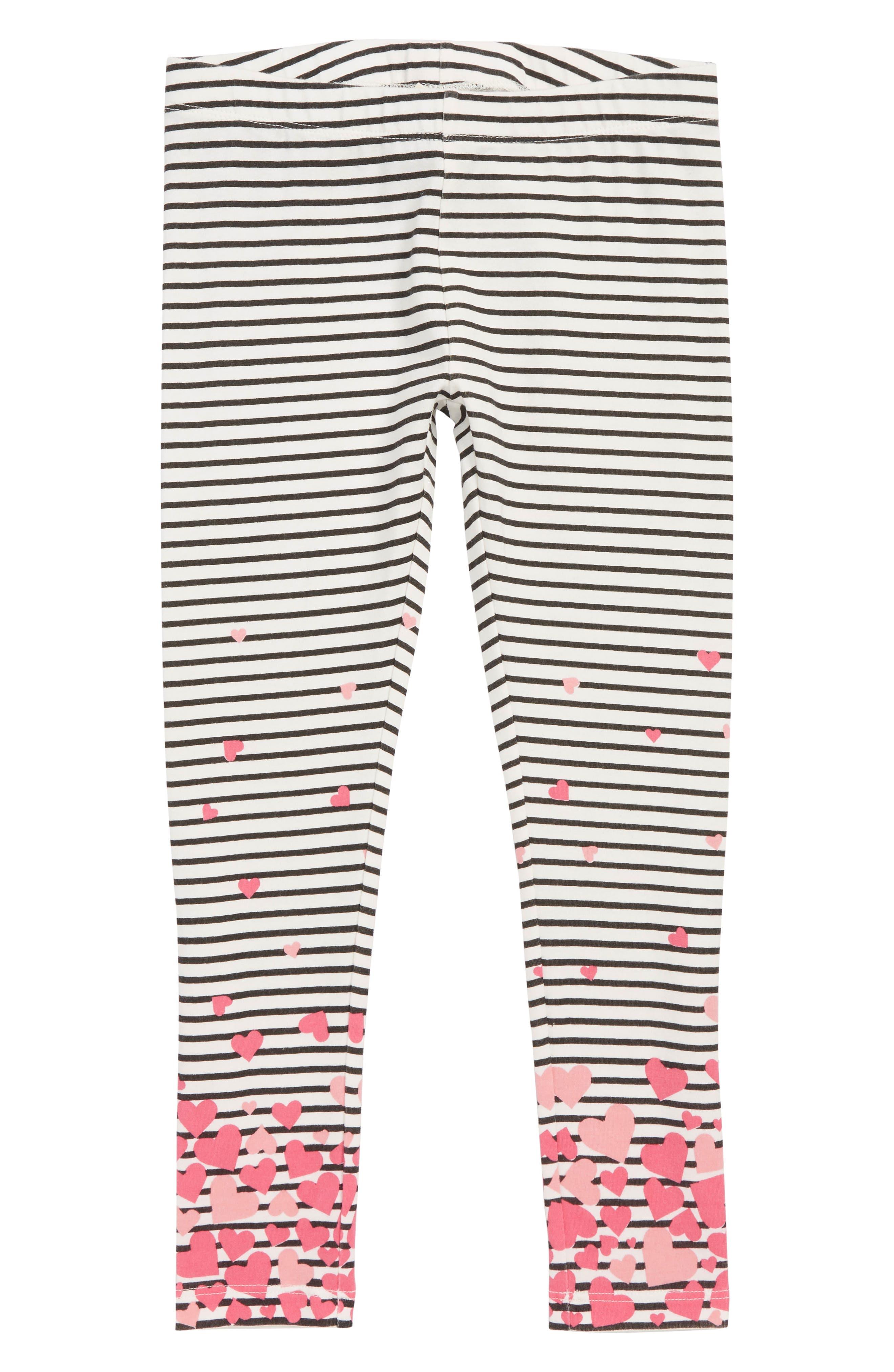 Girls Tucker  Tate Striped Graphic Leggings Size 4  Ivory