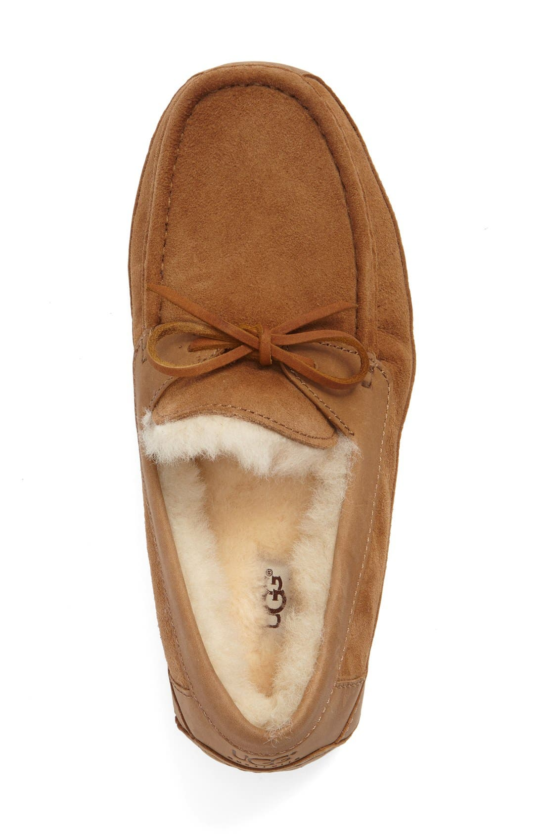 UGG<SUP>®</SUP>, 'Byron' Slipper, Alternate thumbnail 9, color, CHESTNUT