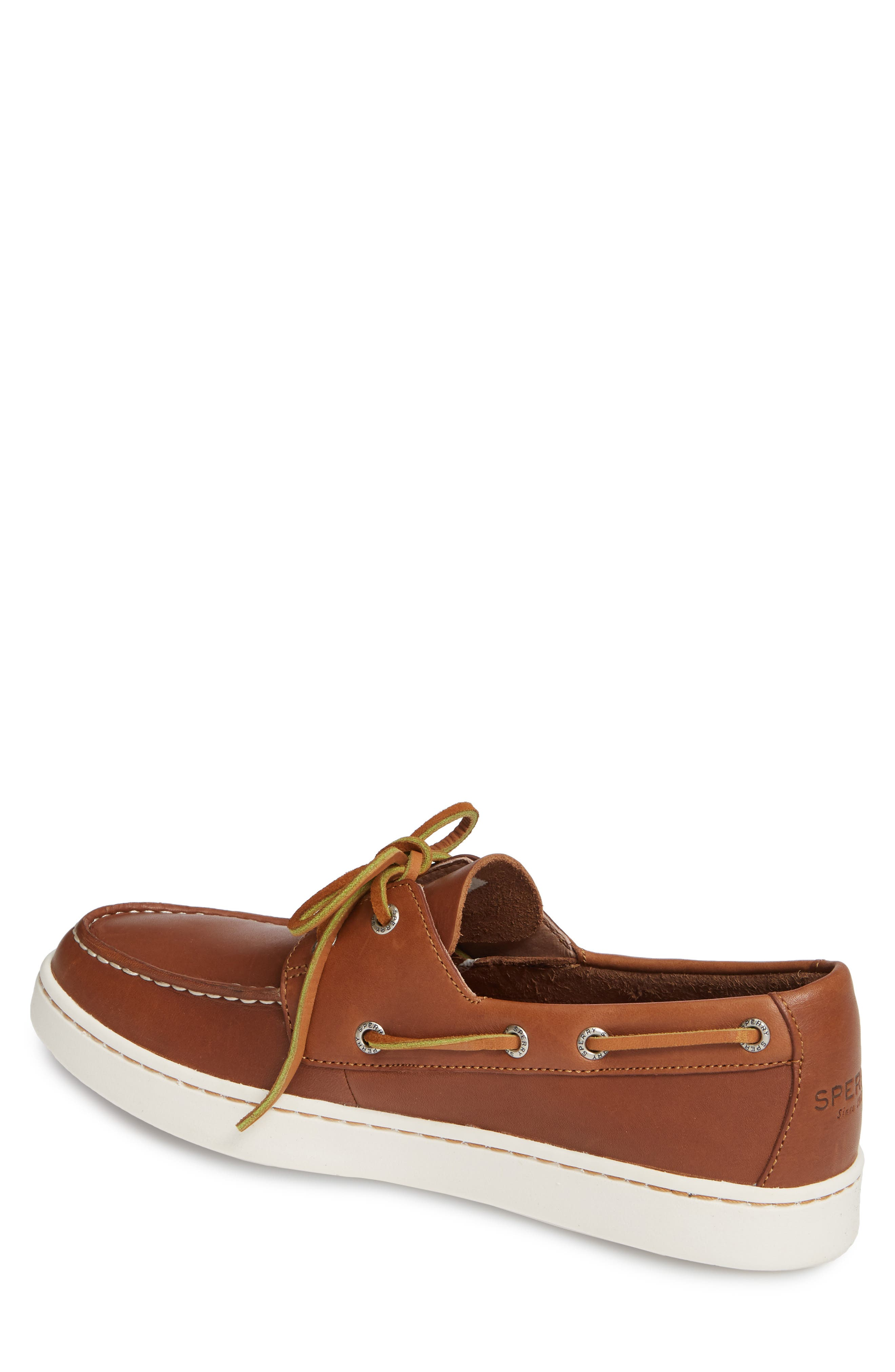 SPERRY, Cup Boat Shoe, Alternate thumbnail 2, color, TAN