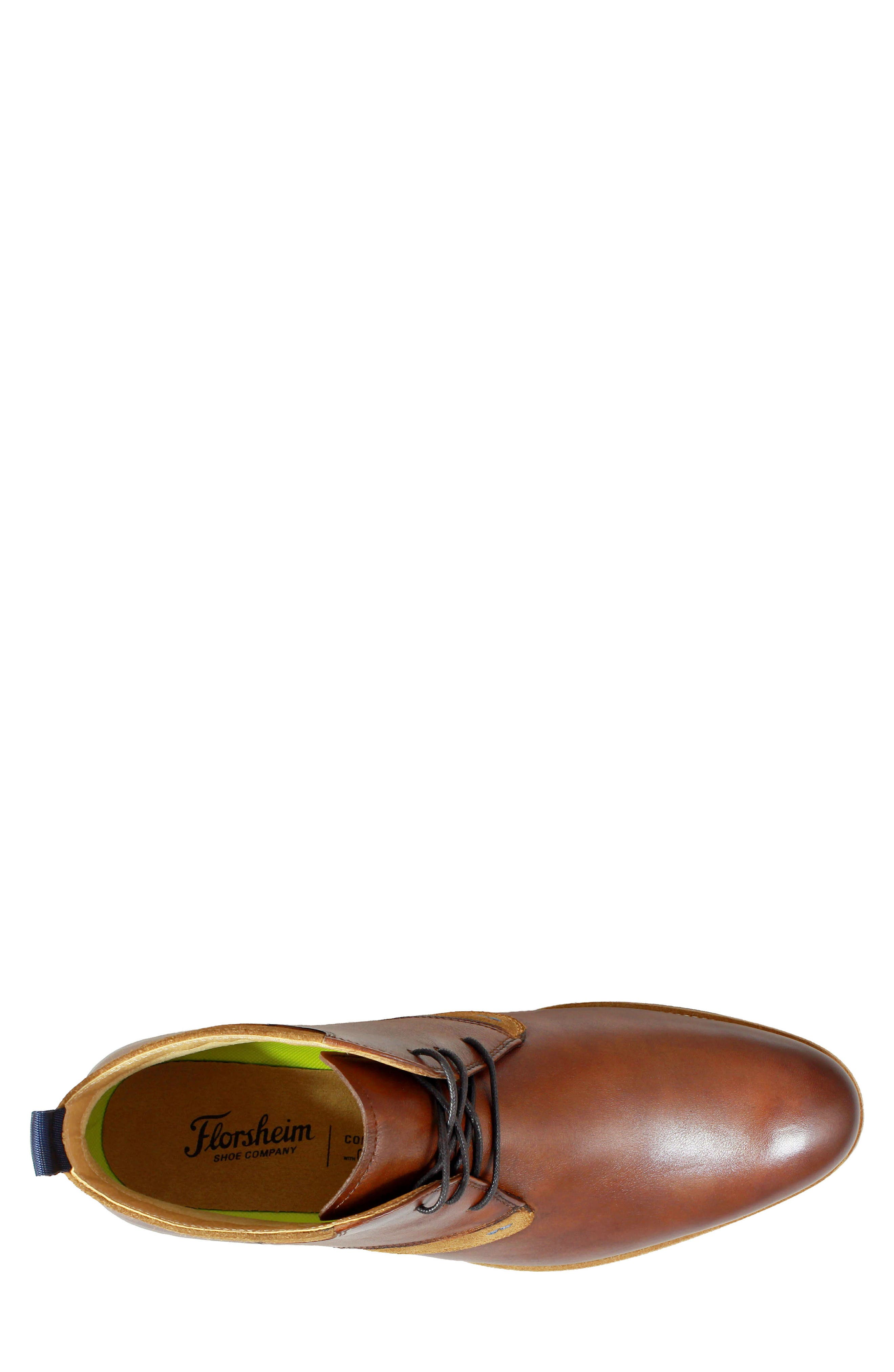 FLORSHEIM, Uptown Chukka Boot, Alternate thumbnail 5, color, COGNAC LEATHER