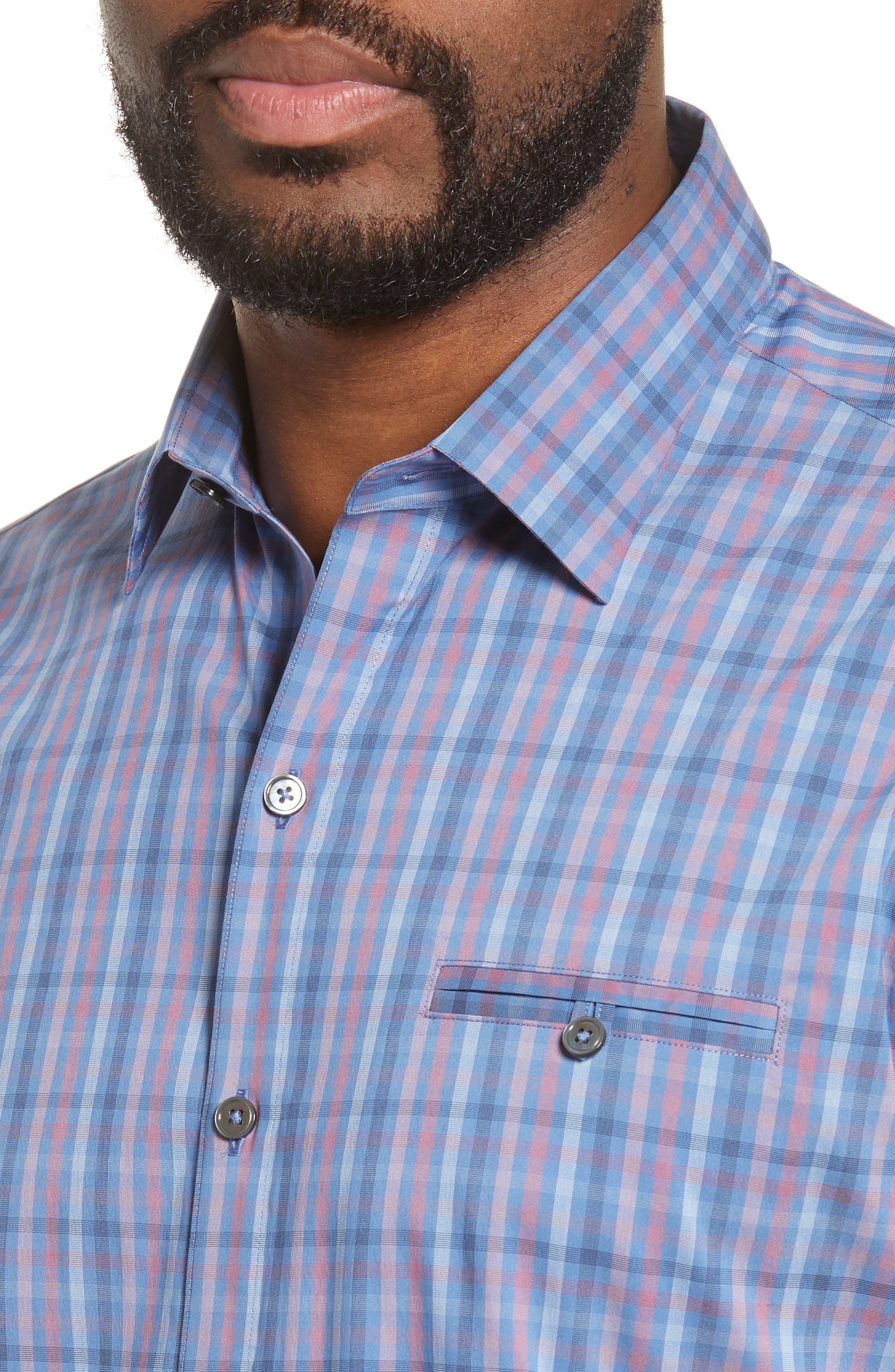 ZACHARY PRELL, Guastella Regular Fit Sport Shirt, Alternate thumbnail 2, color, AZURE