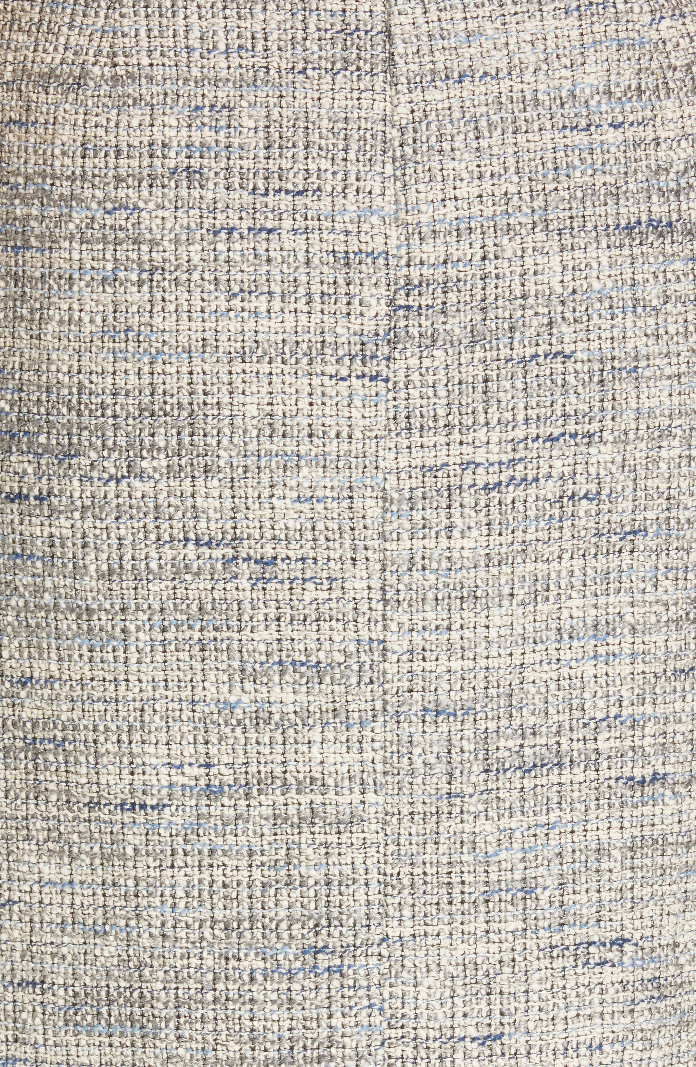 REBECCA TAYLOR, Tweed Ruffle Hem Skirt, Alternate thumbnail 5, color, 020