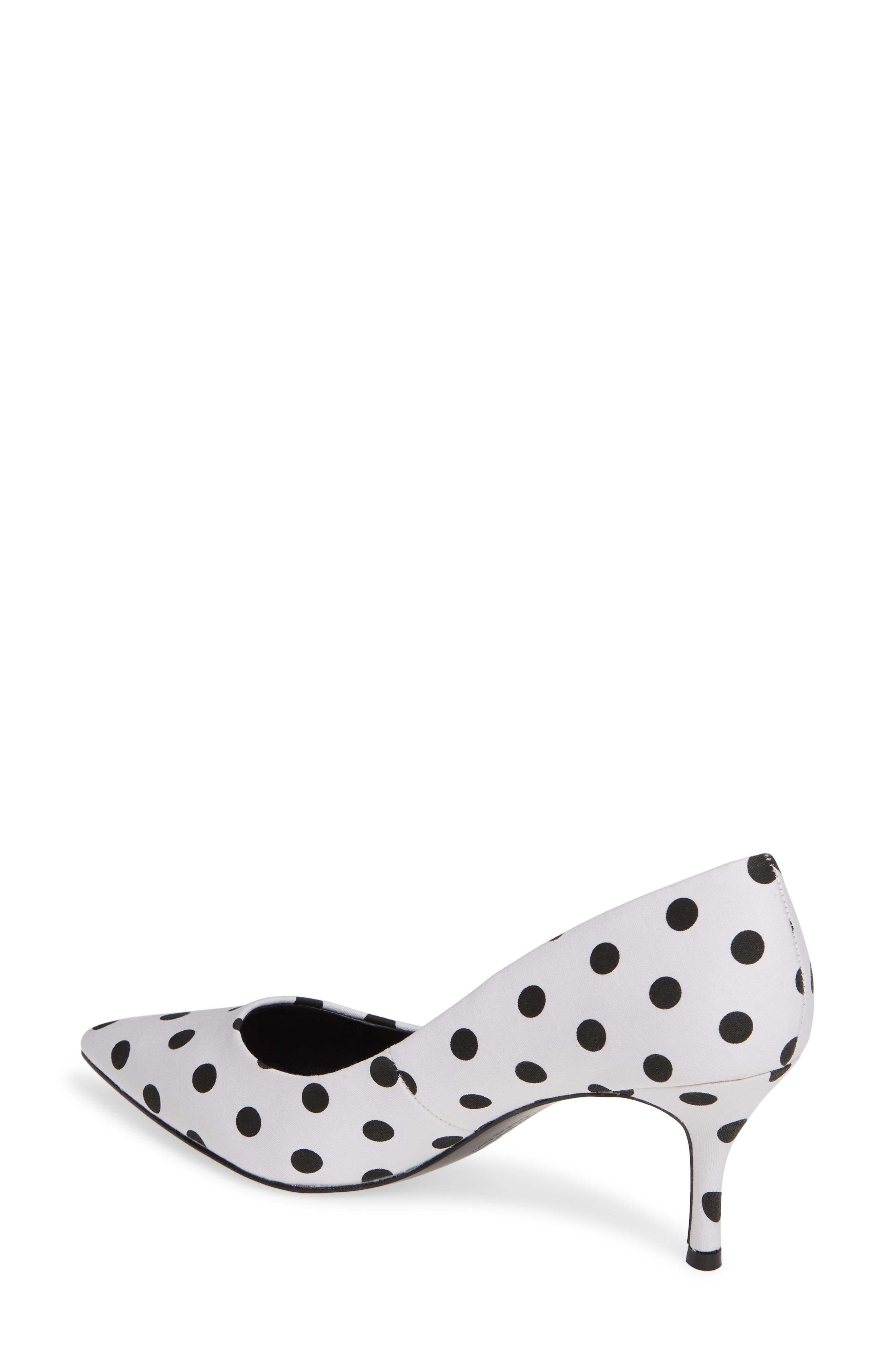 CHARLES BY CHARLES DAVID, Addie Pump, Alternate thumbnail 2, color, WHITE/ BLACK FABRIC