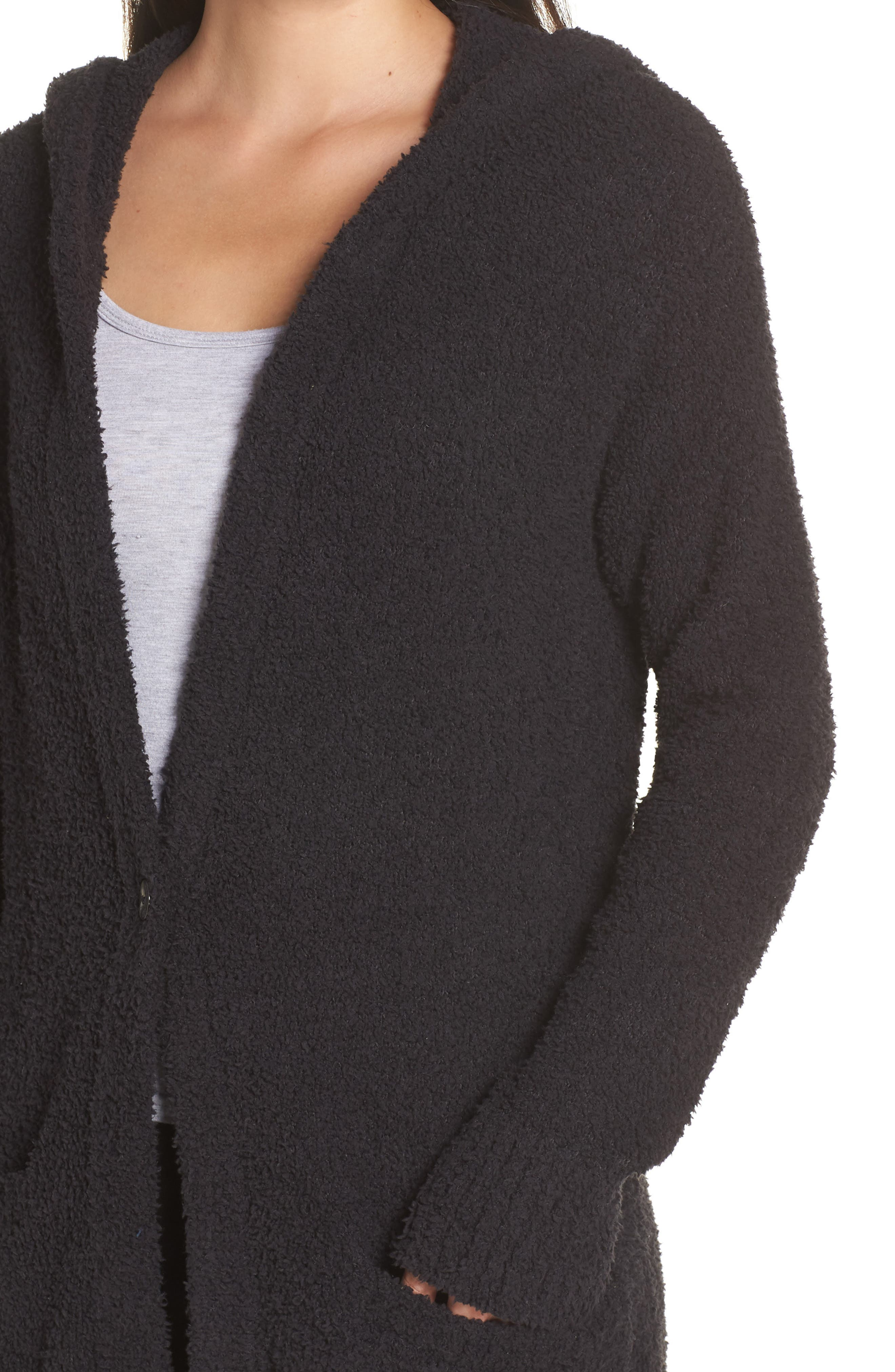 UGG<SUP>®</SUP>, Judith Long Cardigan, Alternate thumbnail 4, color, BLACK