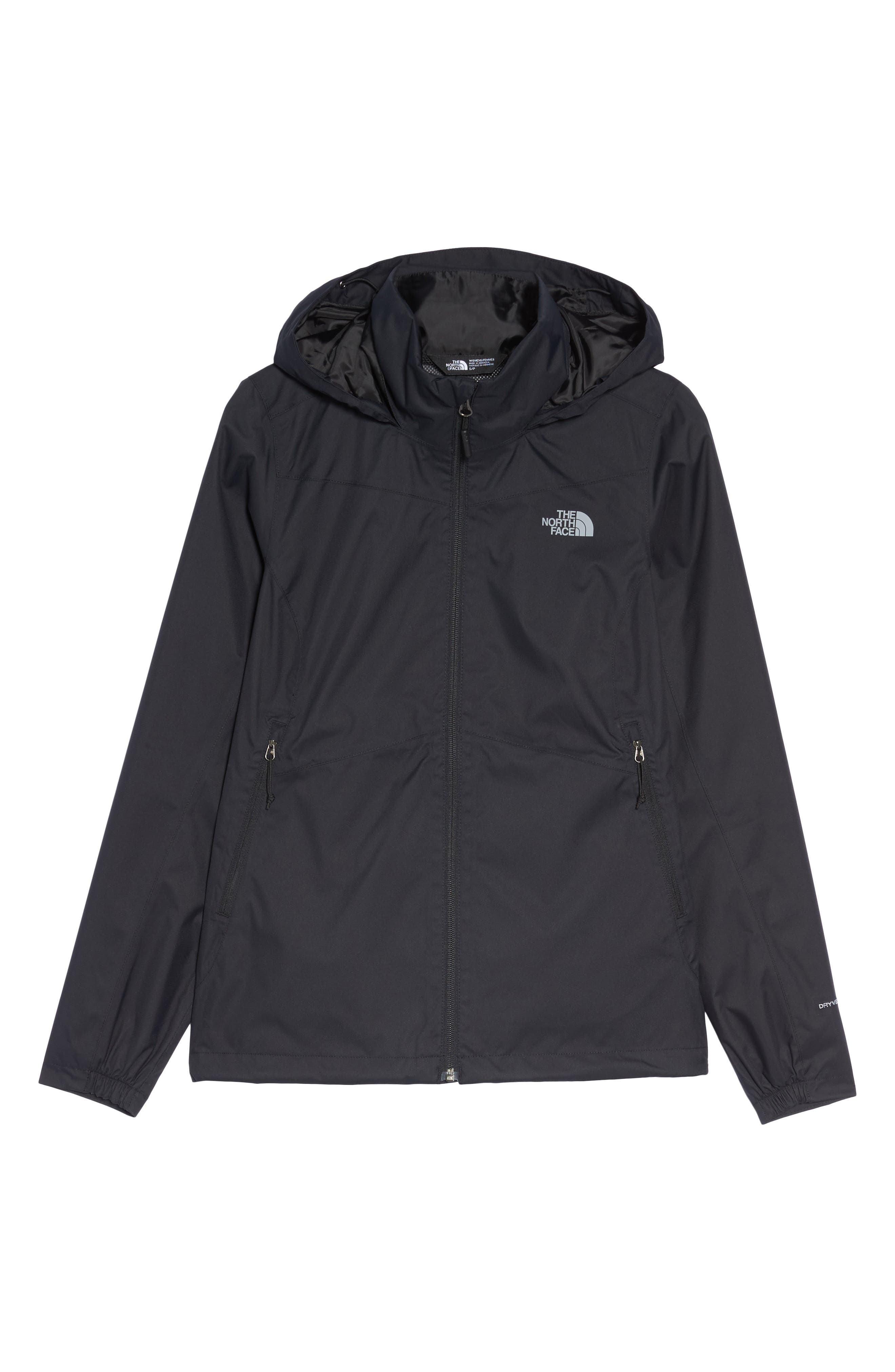 THE NORTH FACE, Resolve Plus Waterproof Jacket, Alternate thumbnail 6, color, TNF BLACK