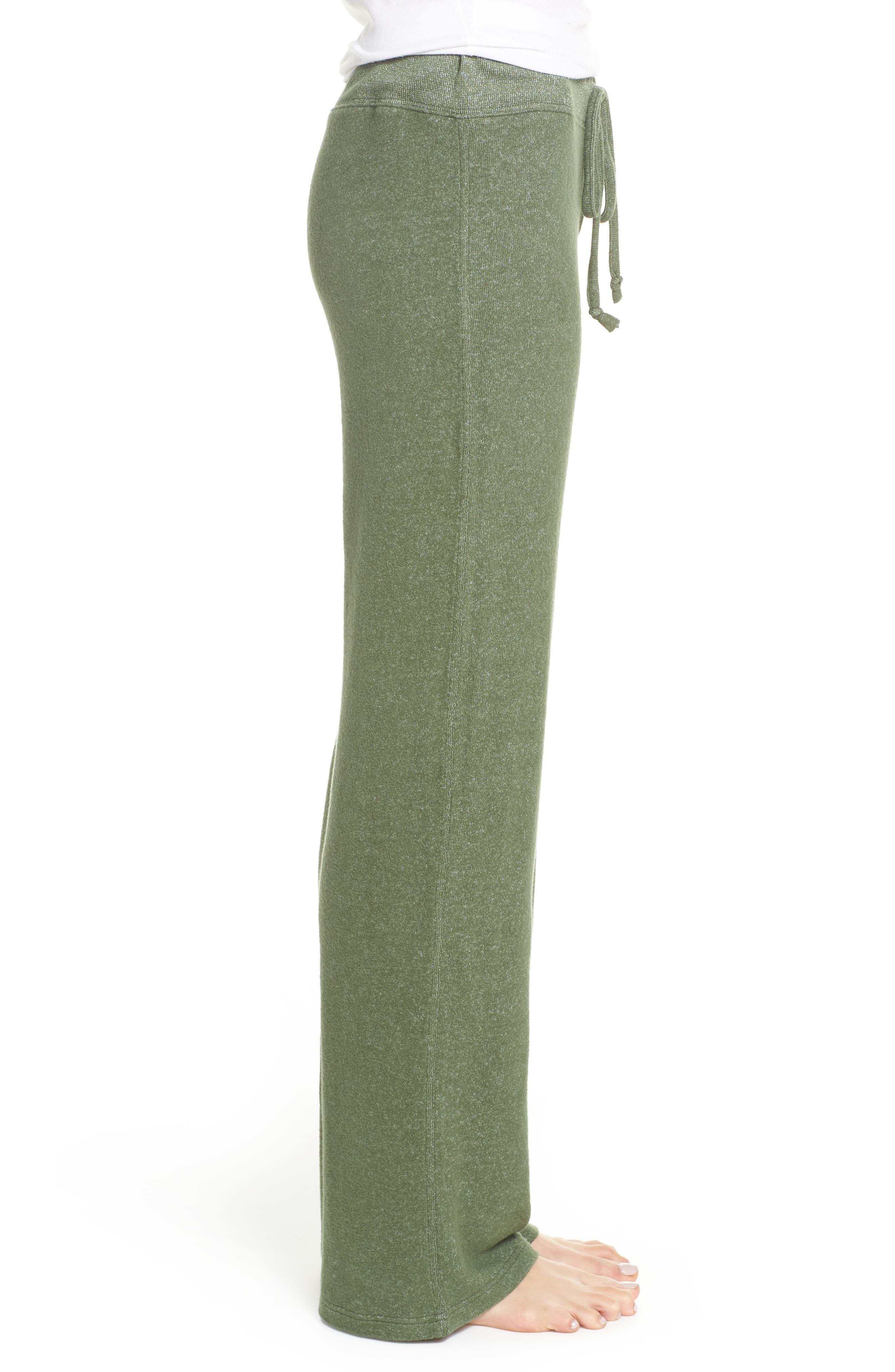 MAKE + MODEL, Best Boyfriend Brushed Hacci Lounge Pants, Alternate thumbnail 3, color, GREEN THYME
