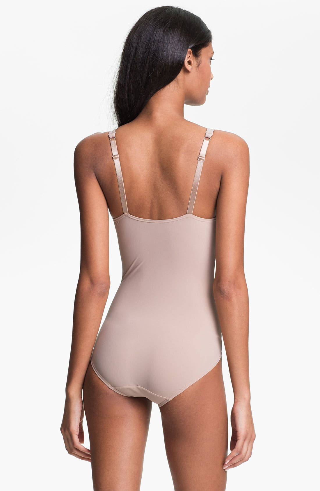 WACOAL, Try a Little Slenderness Shaping Bodysuit, Alternate thumbnail 5, color, TOAST
