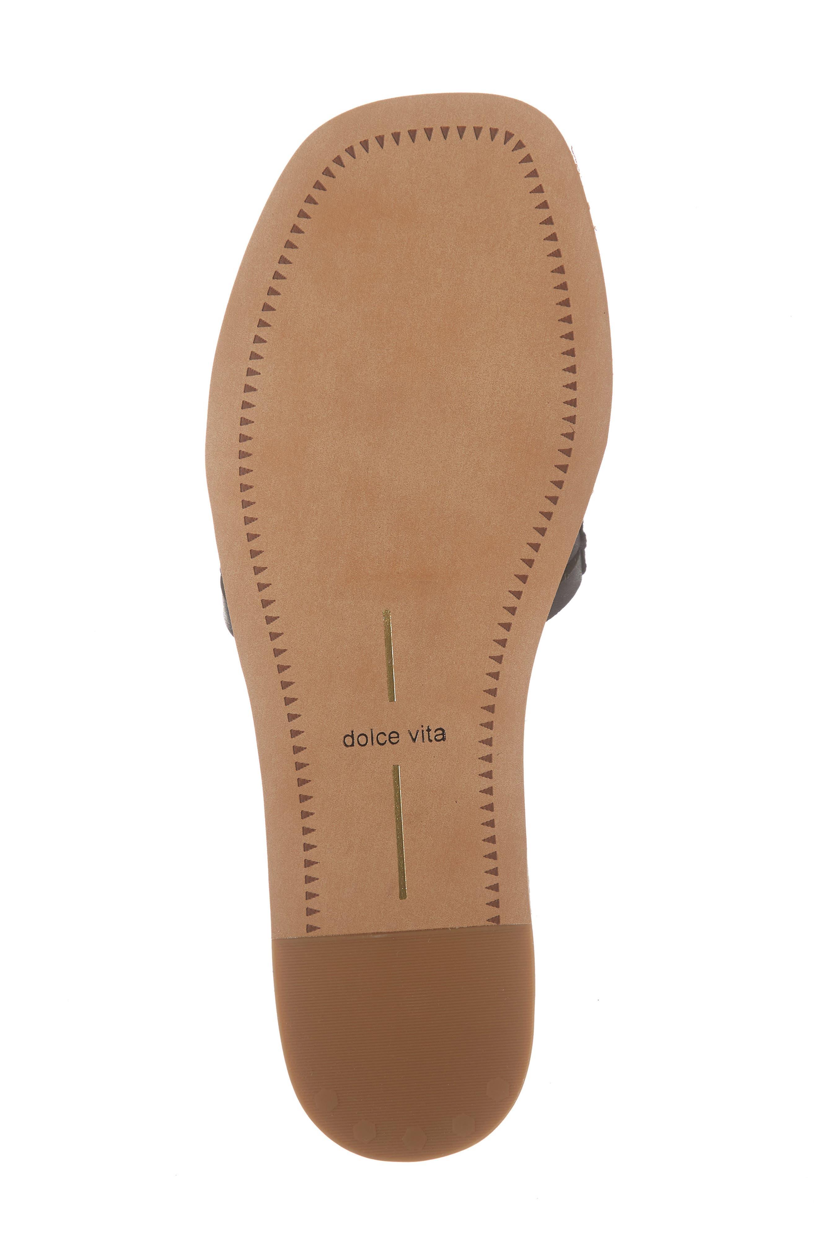 DOLCE VITA, Colsen Slide Sandal, Alternate thumbnail 6, color, BLACK LEATHER