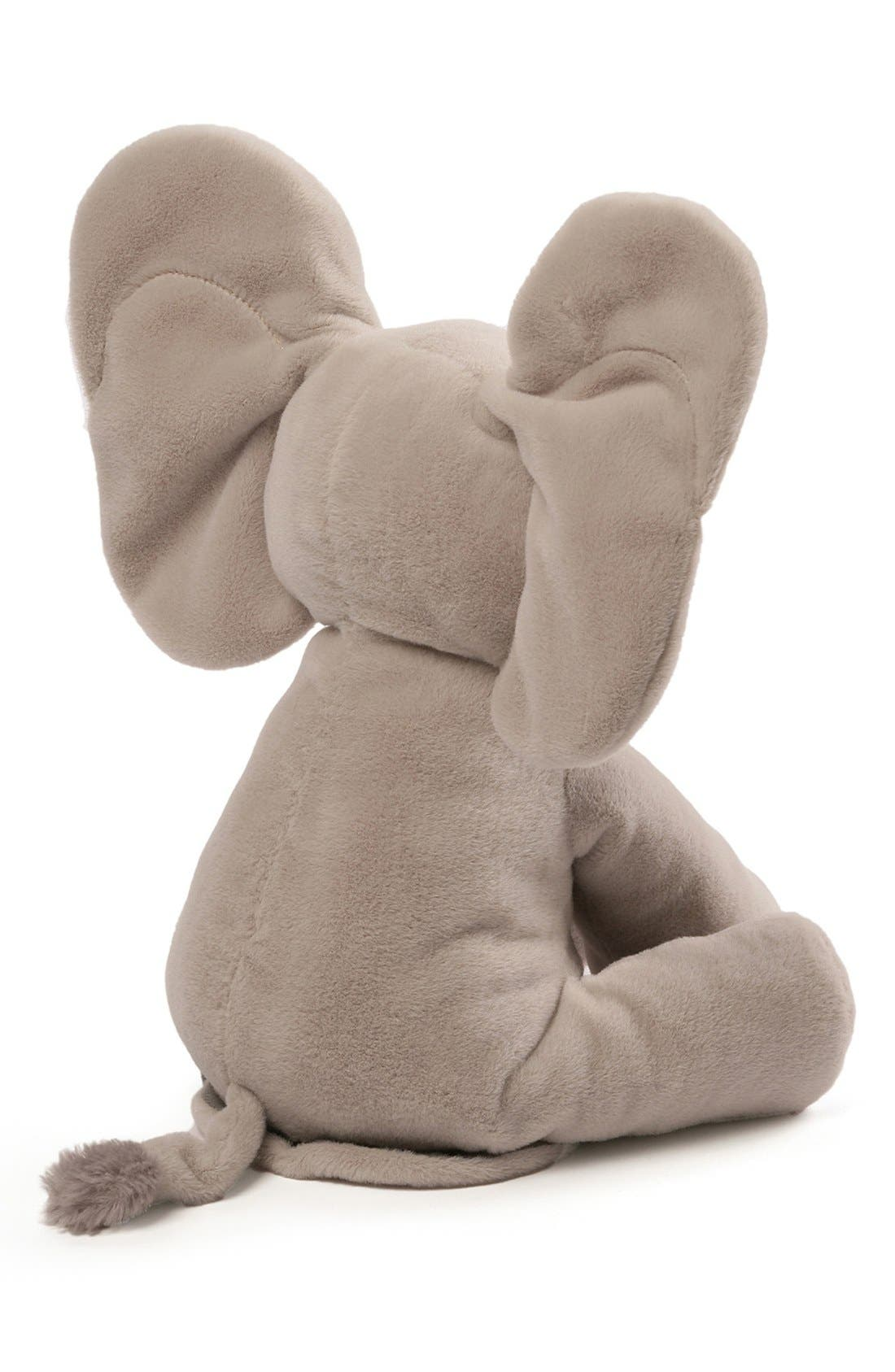 GUND, Baby Gund 'Flappy The Elephant' Musical Elephant, Alternate thumbnail 2, color, GREY