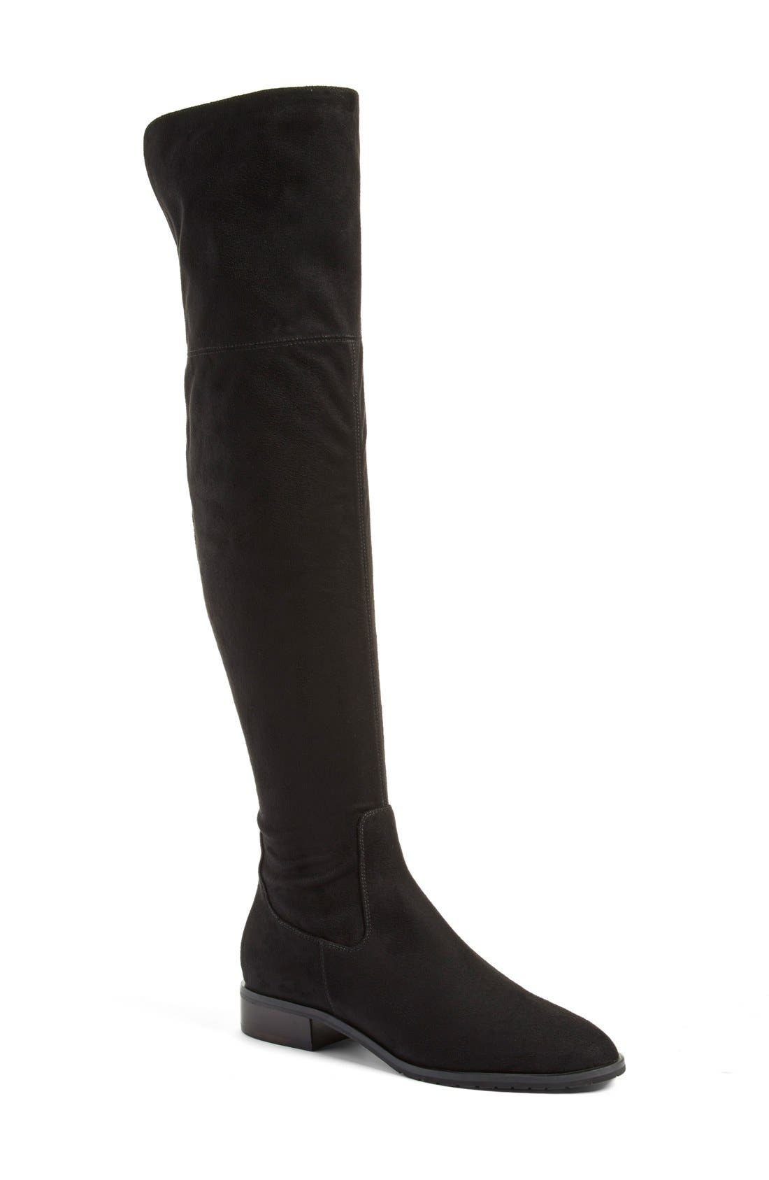 IVANKA TRUMP, 'Luci' Over the Knee Boot, Main thumbnail 1, color, 001