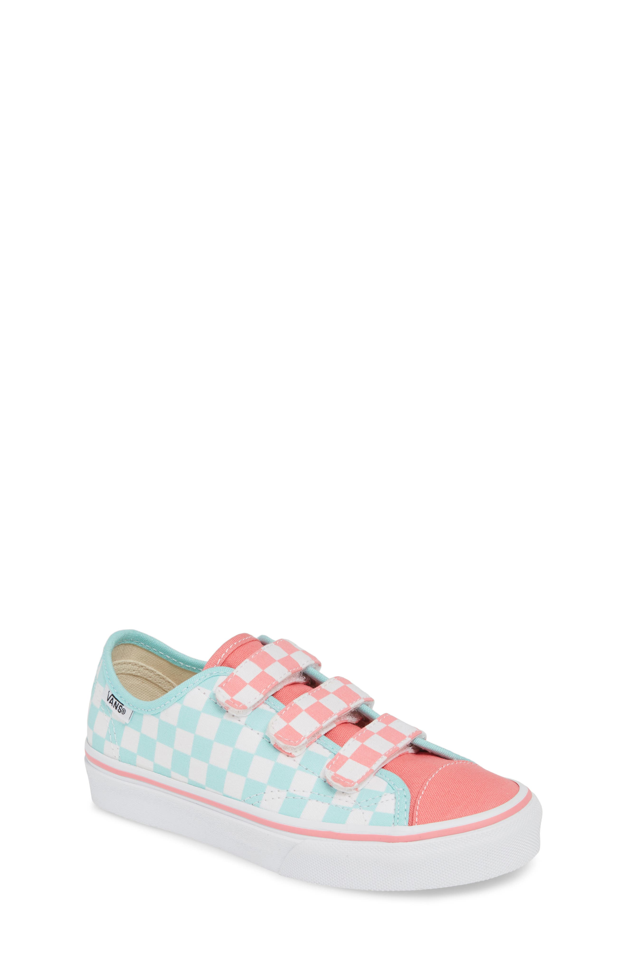 VANS, Style 23V Sneaker, Main thumbnail 1, color, BLUE TINT/ STRAWBERRY PINK