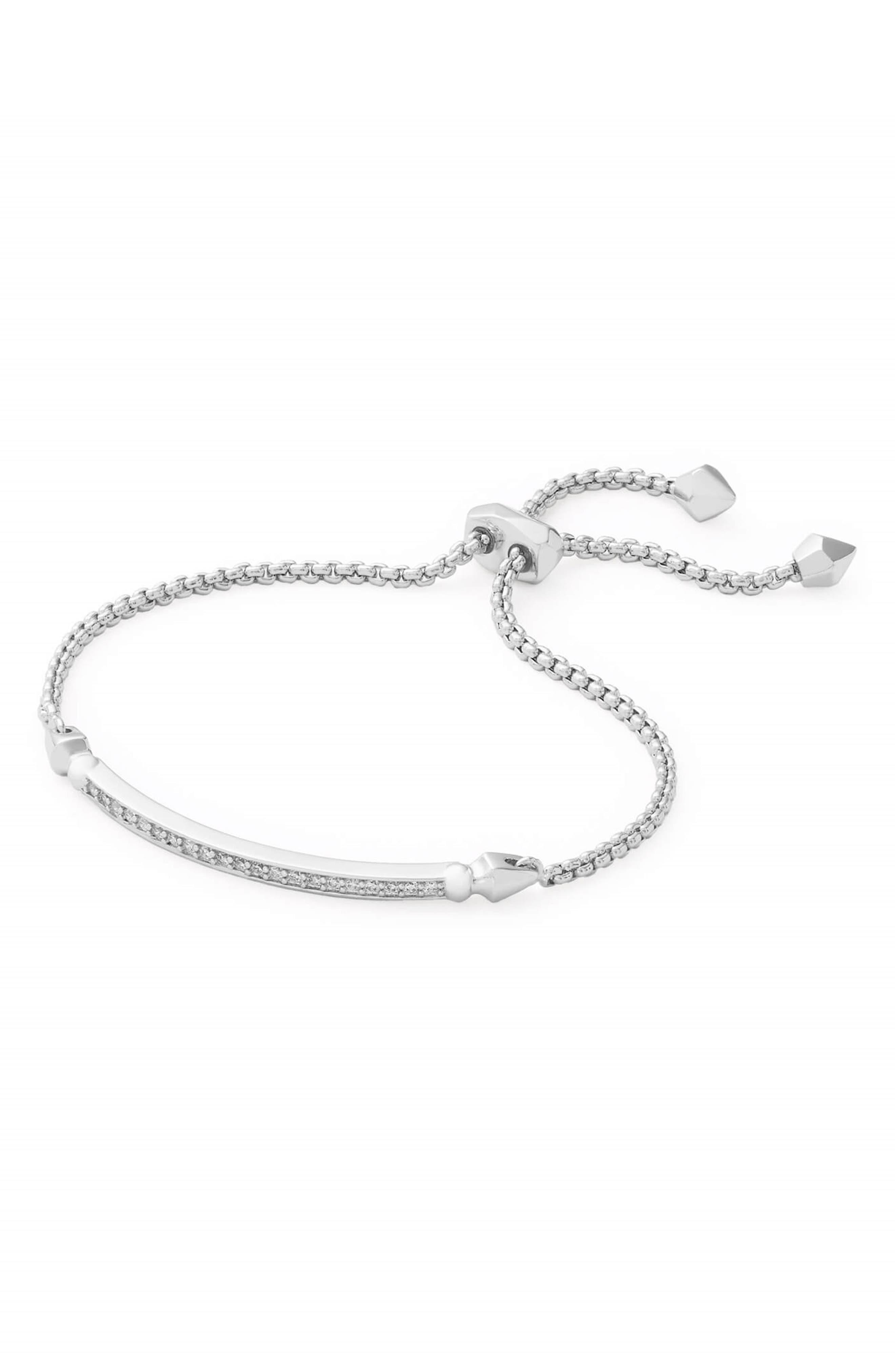 KENDRA SCOTT Ott Friendship Bracelet, Main, color, SILVER