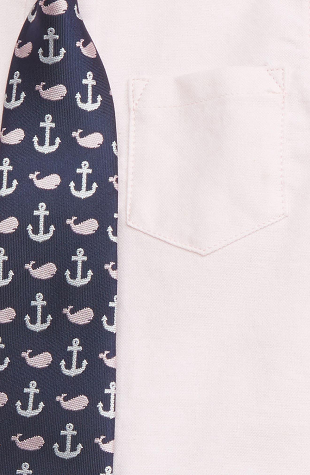 LITTLE ME, Oxford Shirt, Pants & Tie Set, Alternate thumbnail 2, color, 415