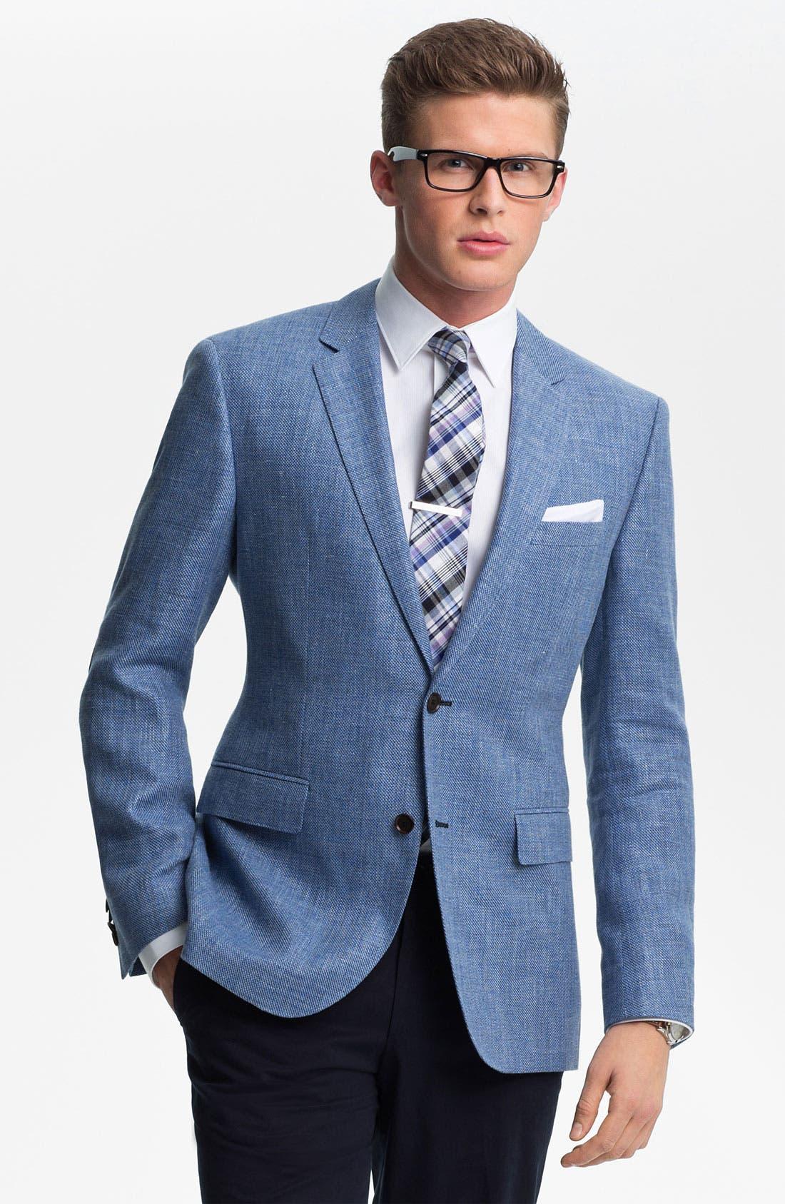 ZZDNUHUGO BOSS BOSS Black 'Smith' Trim Fit Sportcoat, Main, color, 440