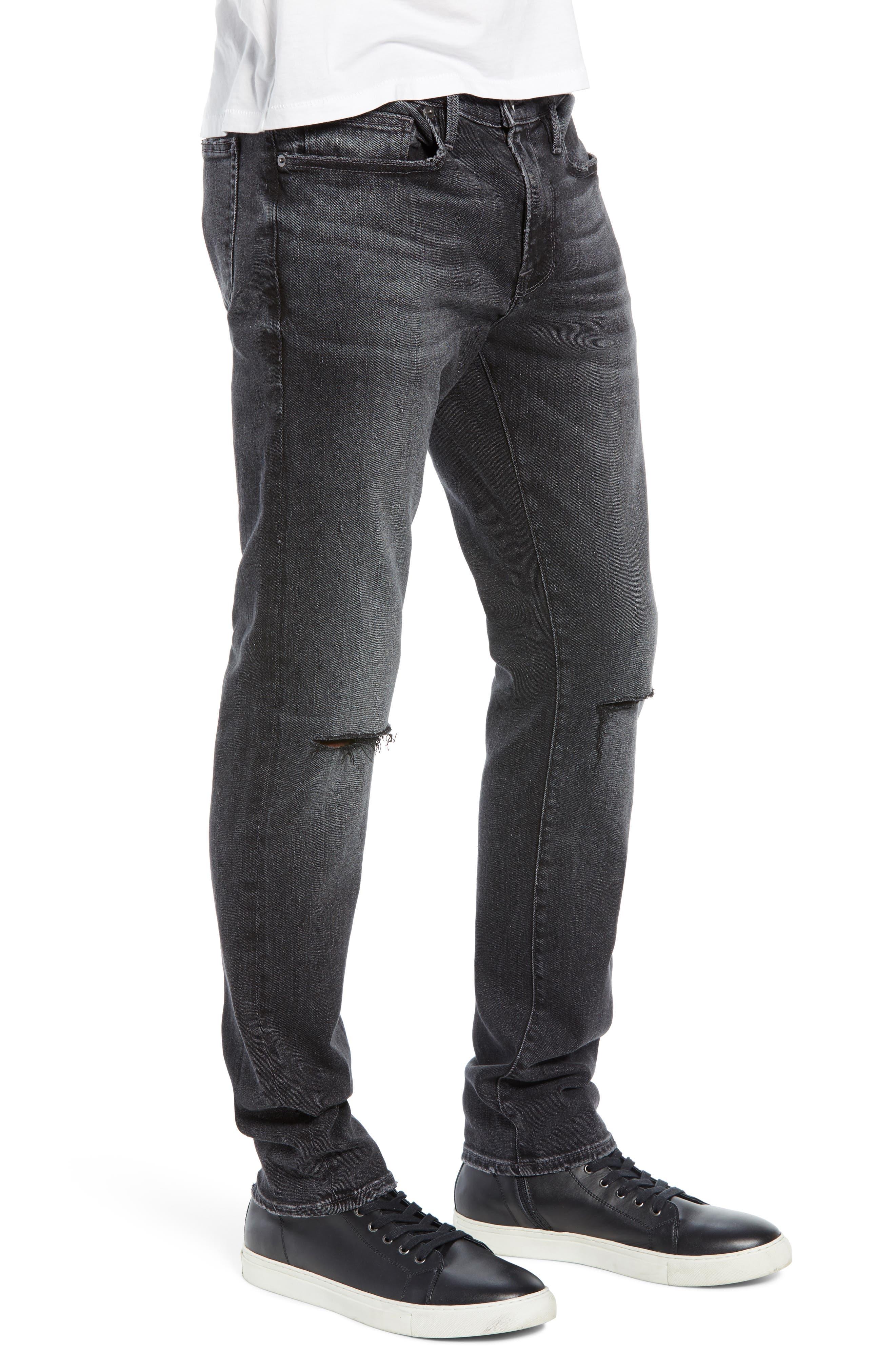 FRAME, L'Homme Slim Fit Jeans, Alternate thumbnail 4, color, HUBBELL