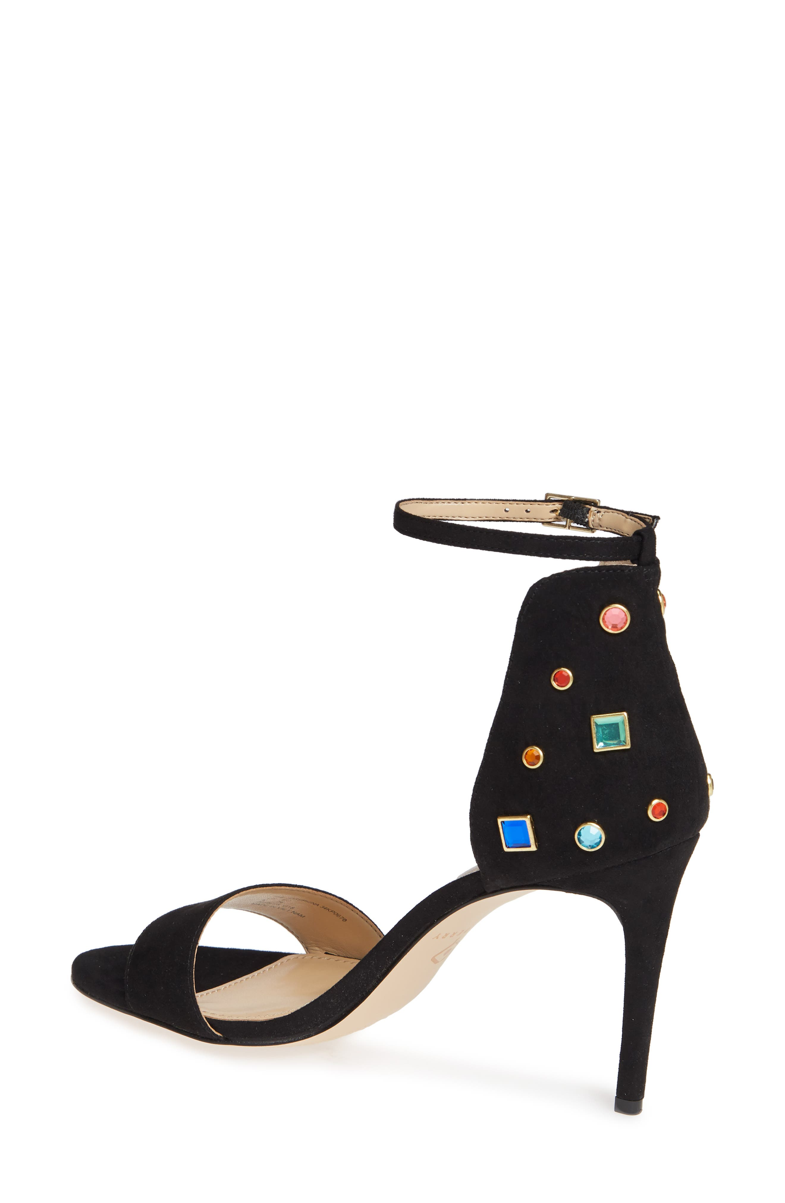 KATY PERRY, Jewel Ankle Strap Sandal, Alternate thumbnail 2, color, 001