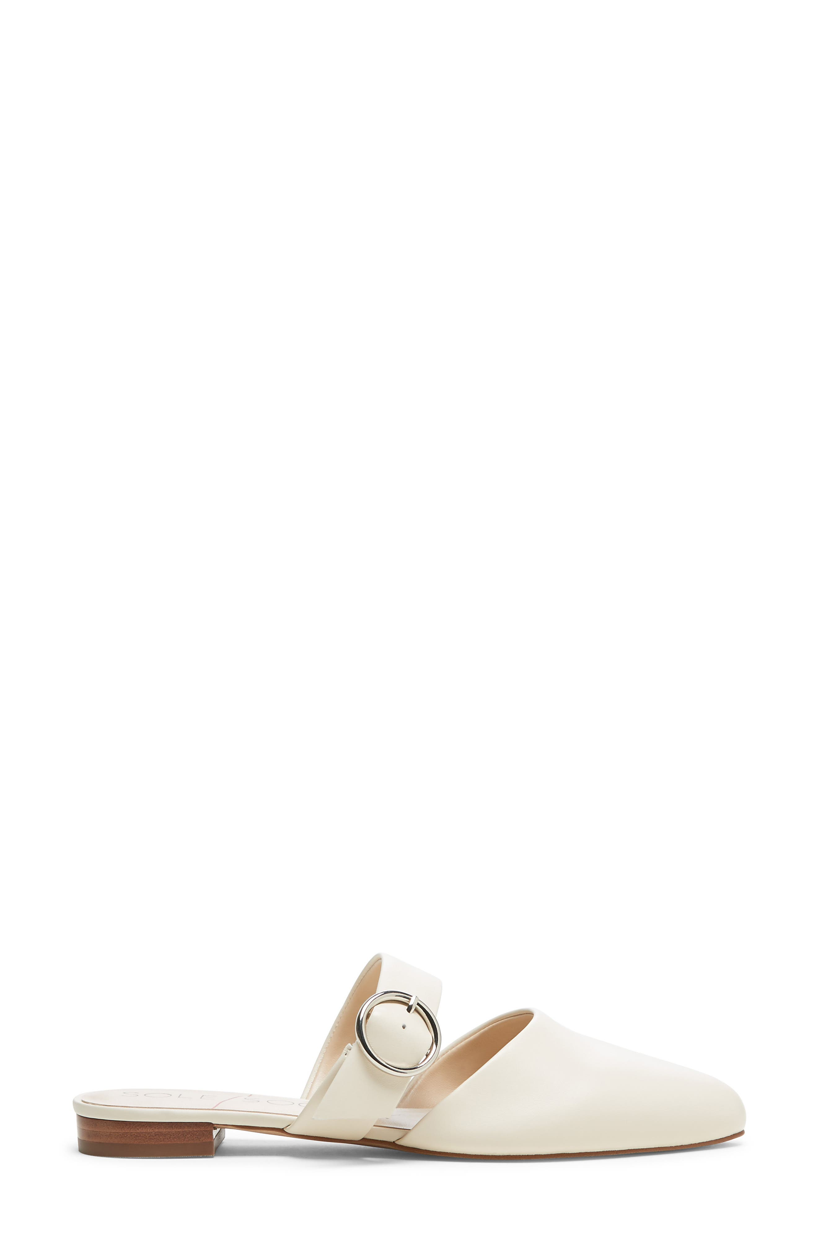 SOLE SOCIETY, Pravar Strappy Pointy Toe Mule, Alternate thumbnail 2, color, CREAM LEATHER