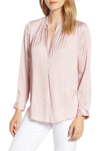 Nic+zoe Tops DESTINATION SPLIT NECK BLOUSE