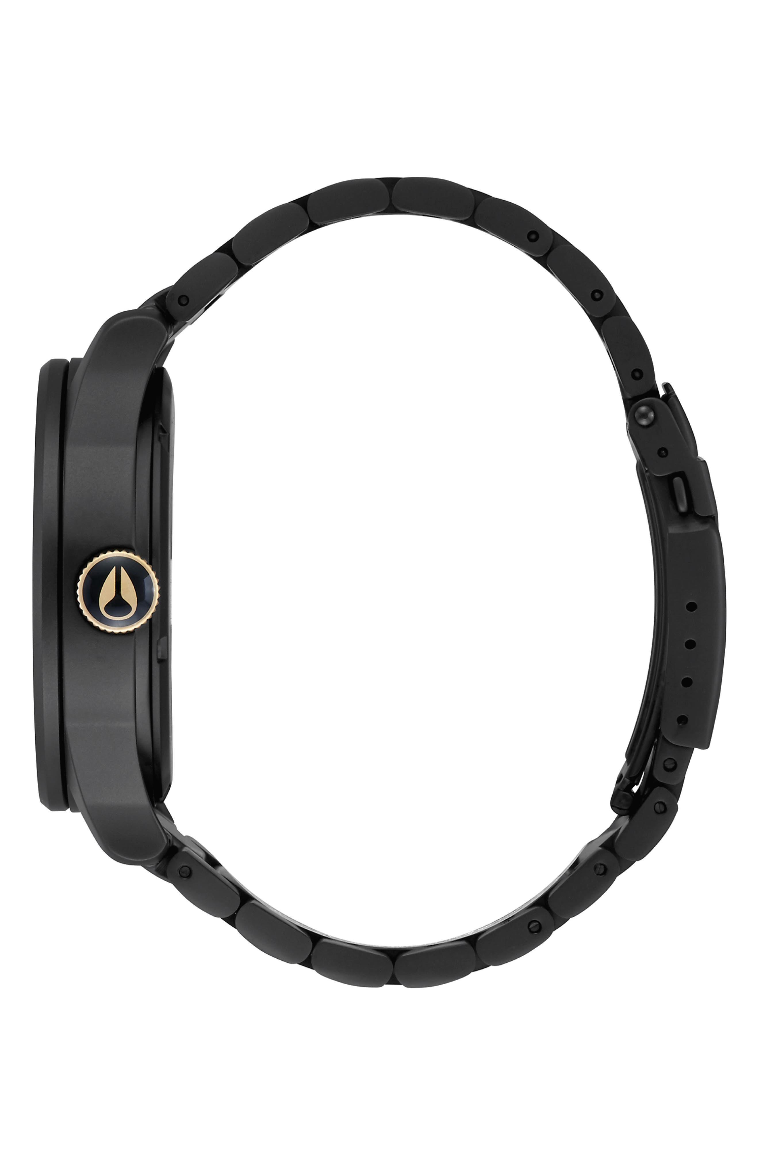 NIXON, 'The Sentry' Bracelet Watch, 42mm, Alternate thumbnail 3, color, 001