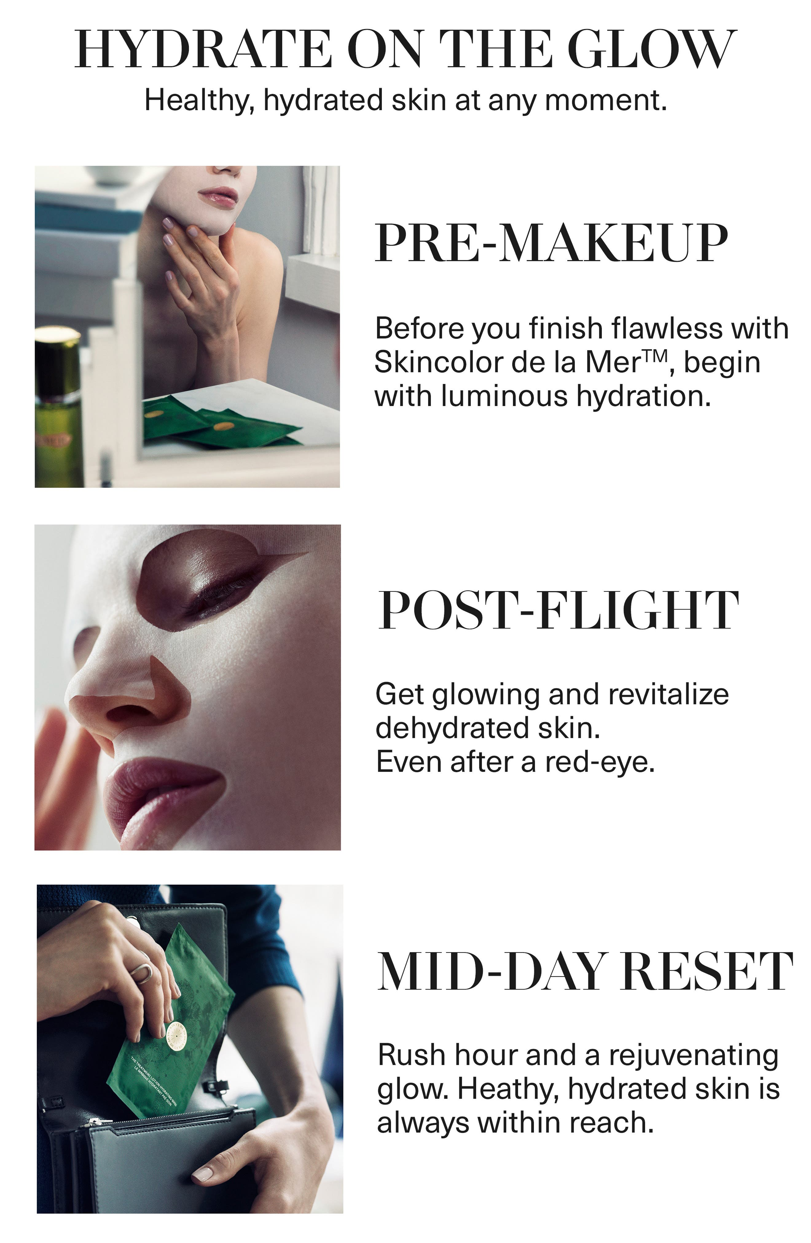 LA MER, The Treatment Lotion Hydrating Mask, Alternate thumbnail 3, color, NO COLOR
