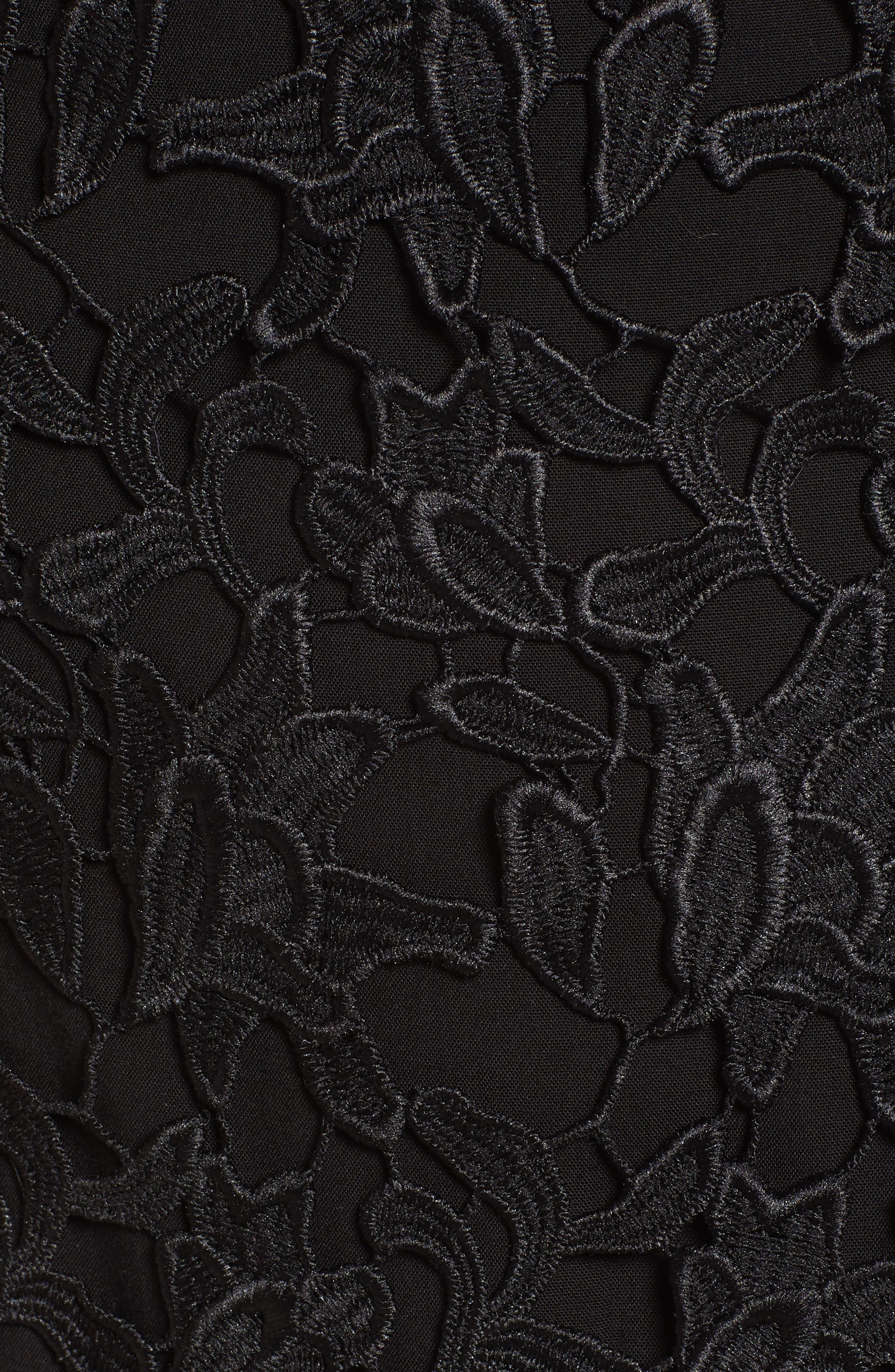 ASTR THE LABEL, Off the Shoulder Lace Minidress, Alternate thumbnail 6, color, 001