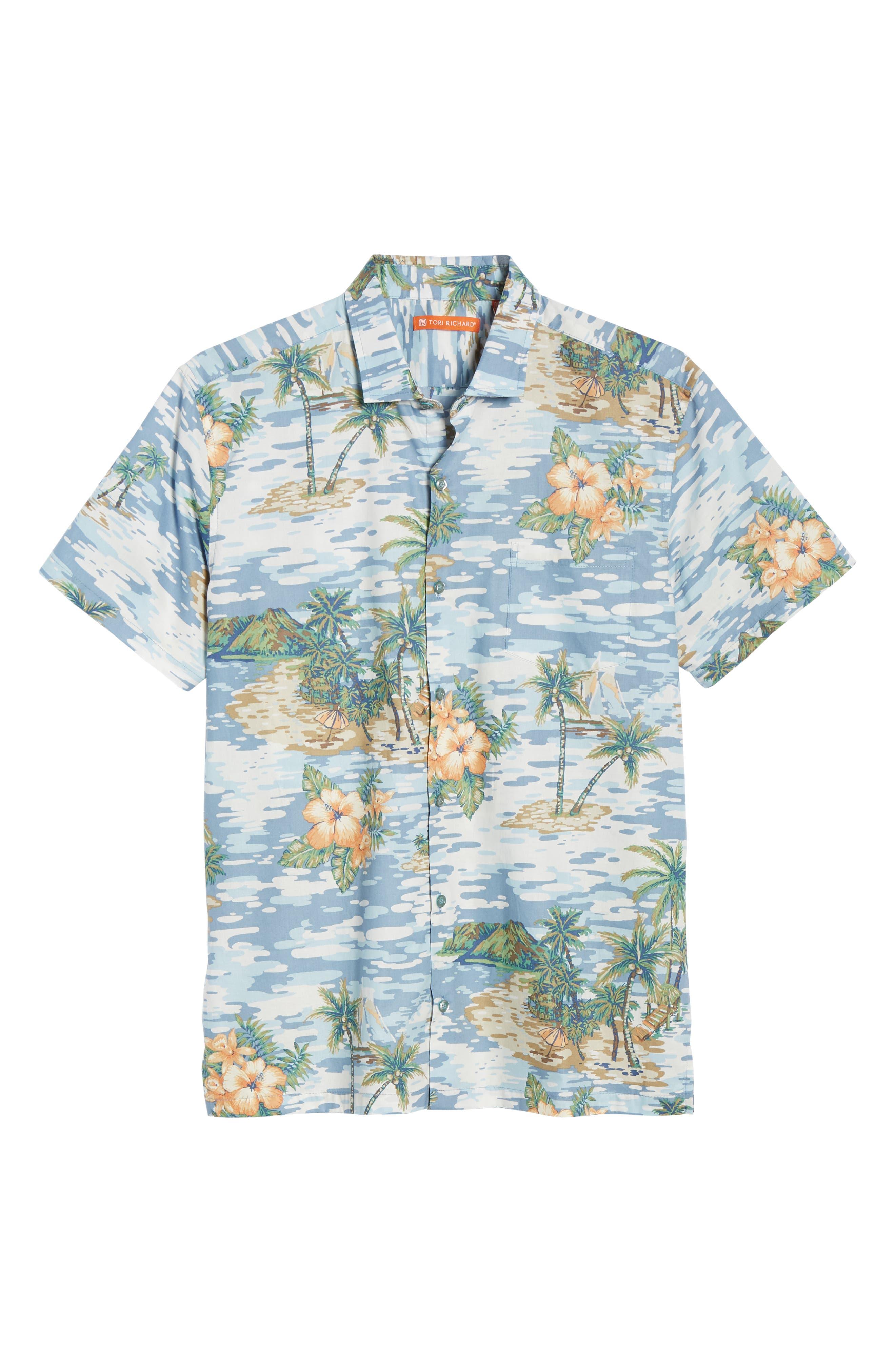 TORI RICHARD, Archipelago Regular Fit Sport Shirt, Alternate thumbnail 5, color, 061