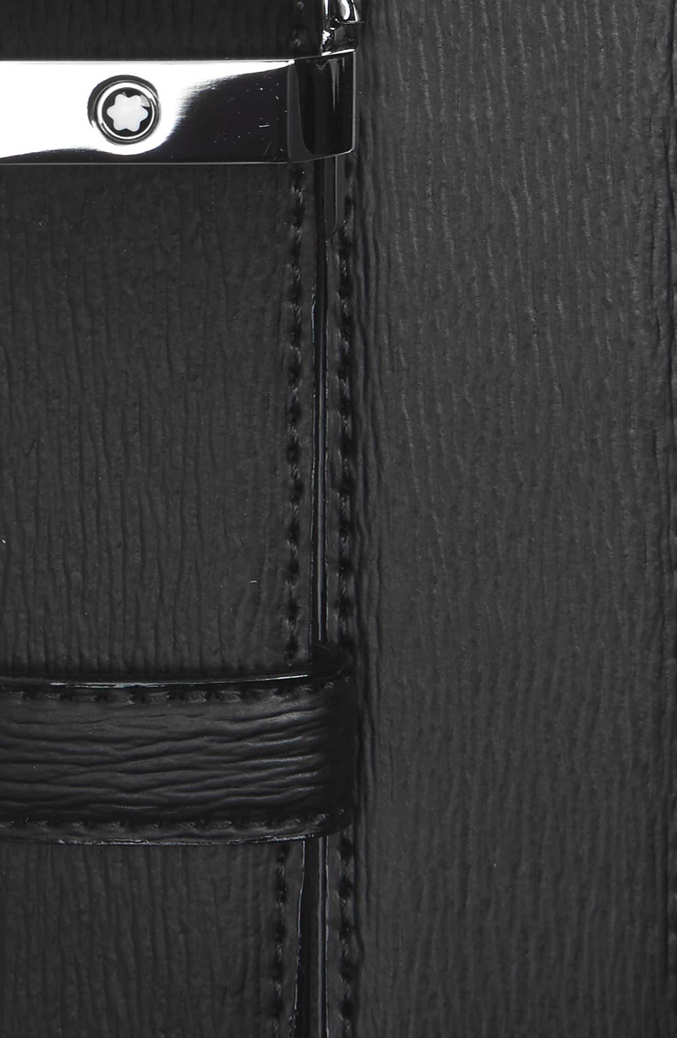 MONTBLANC, Westside Reversible Sartorial Leather Belt, Alternate thumbnail 3, color, BLACK