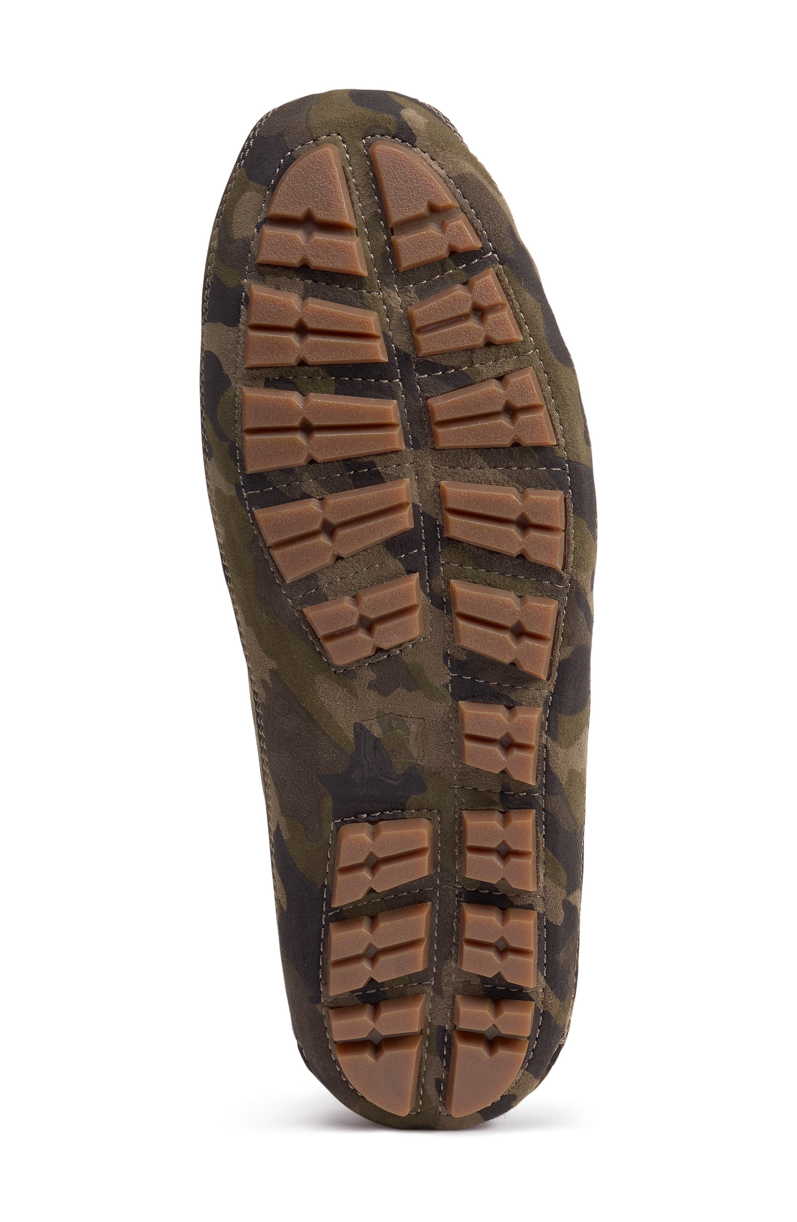 TRASK, 'Polson' Slipper, Alternate thumbnail 6, color, CAMO SUEDE/ SHEARLING