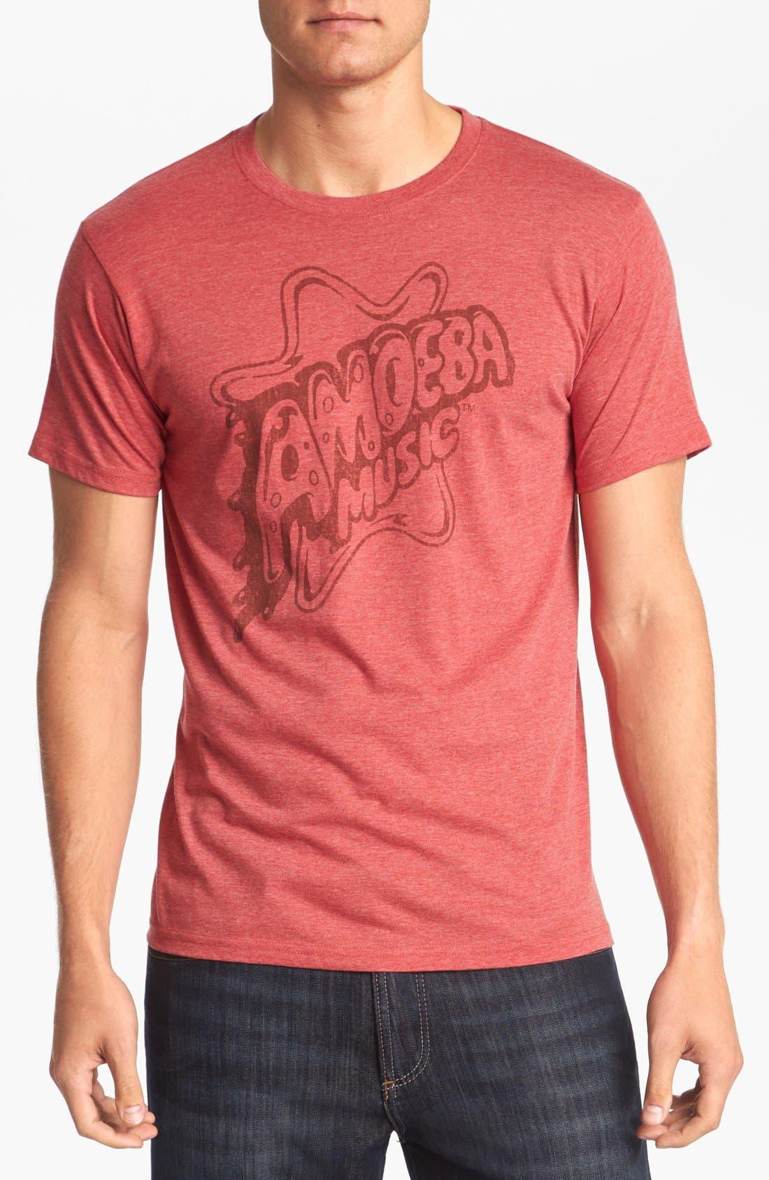 HORSES CUT SHOP 'Amoeba Music' T-Shirt, Main, color, 610