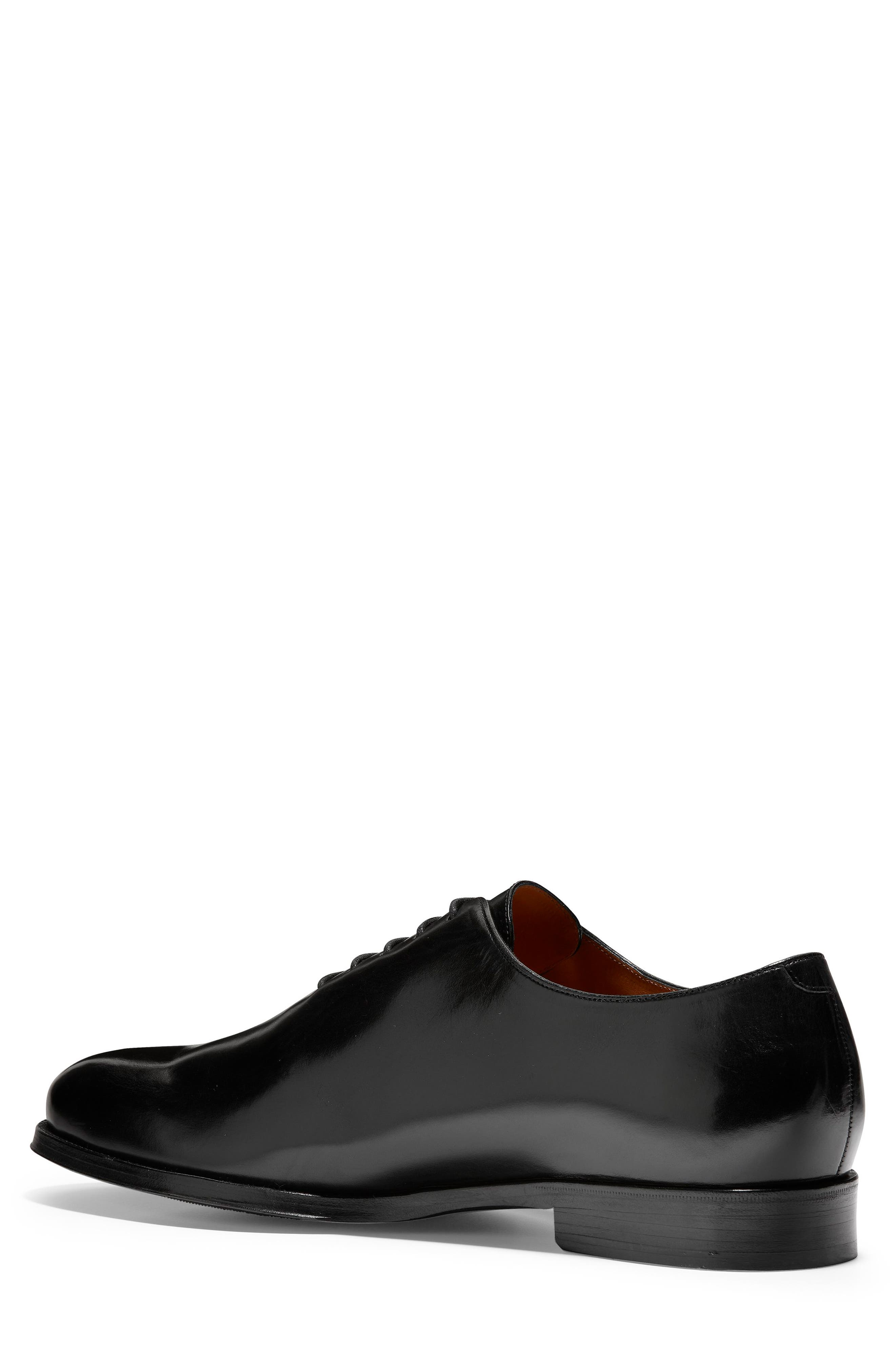 COLE HAAN, American Classics Gramercy Whole Cut Shoe, Alternate thumbnail 2, color, BLACK LEATHER