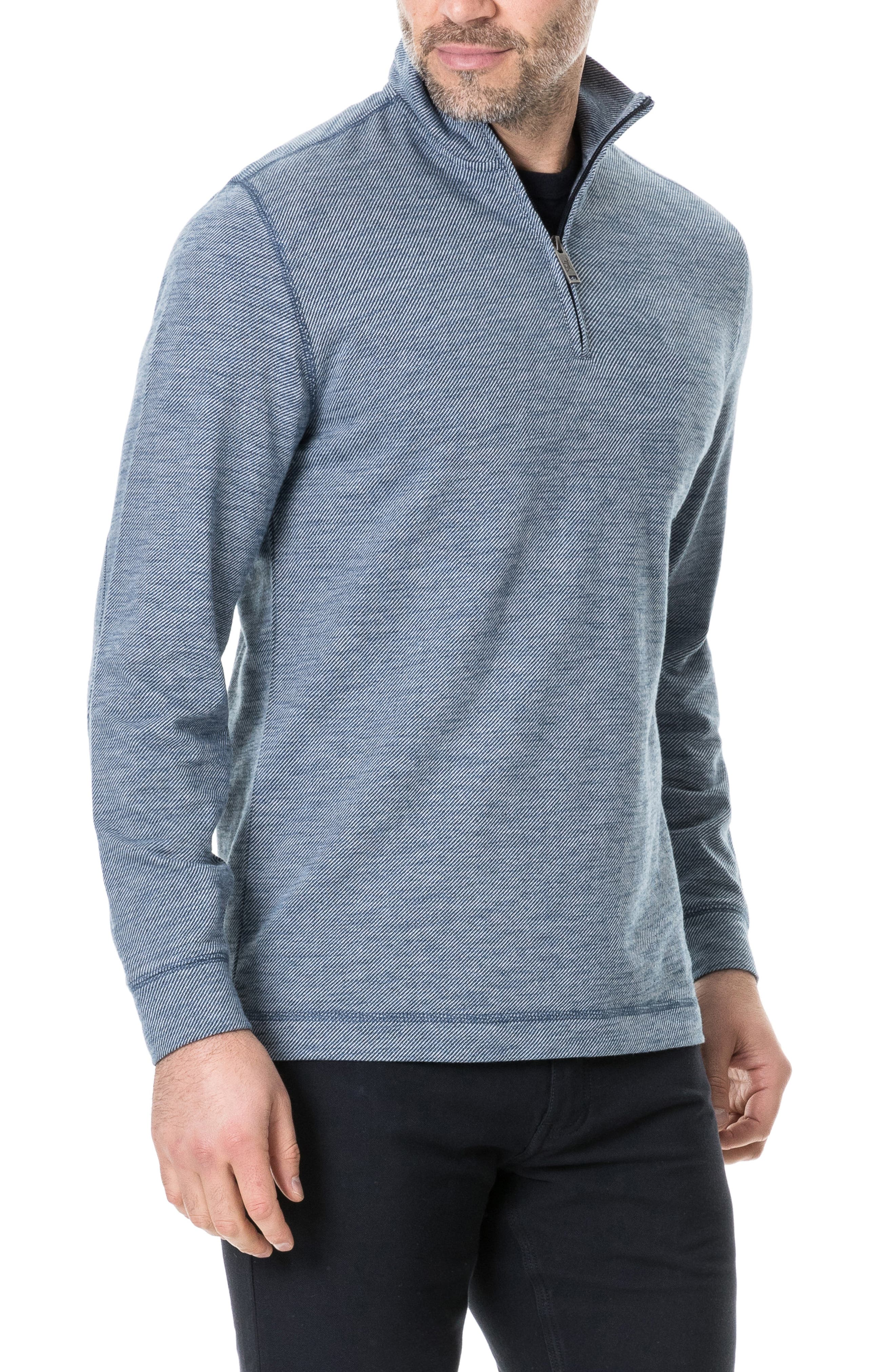 RODD & GUNN, Anvil Island Regular Fit Pullover, Alternate thumbnail 3, color, DENIM BLUE