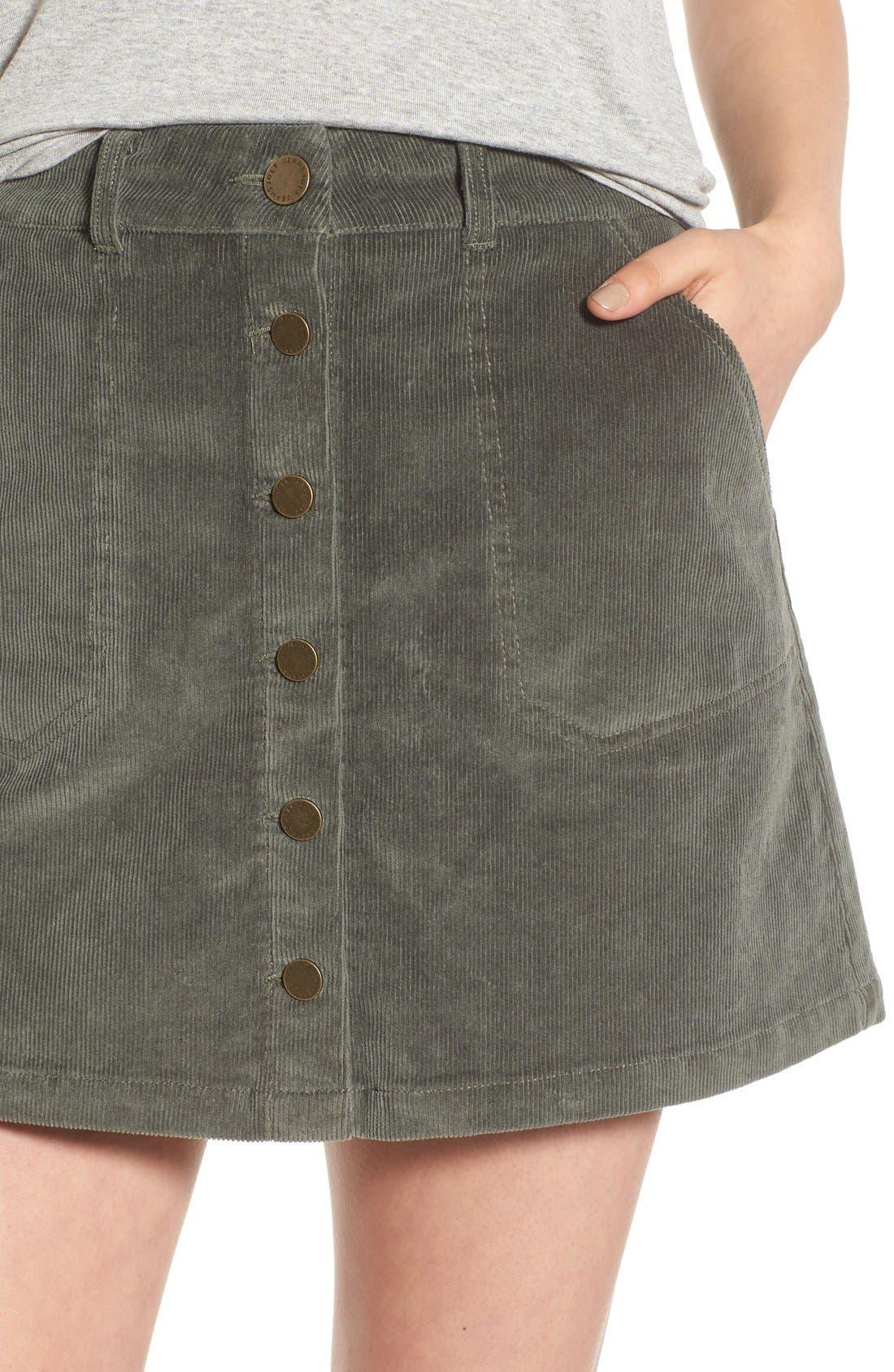 JOLT, Corduroy A-Line Skirt, Alternate thumbnail 5, color, 300