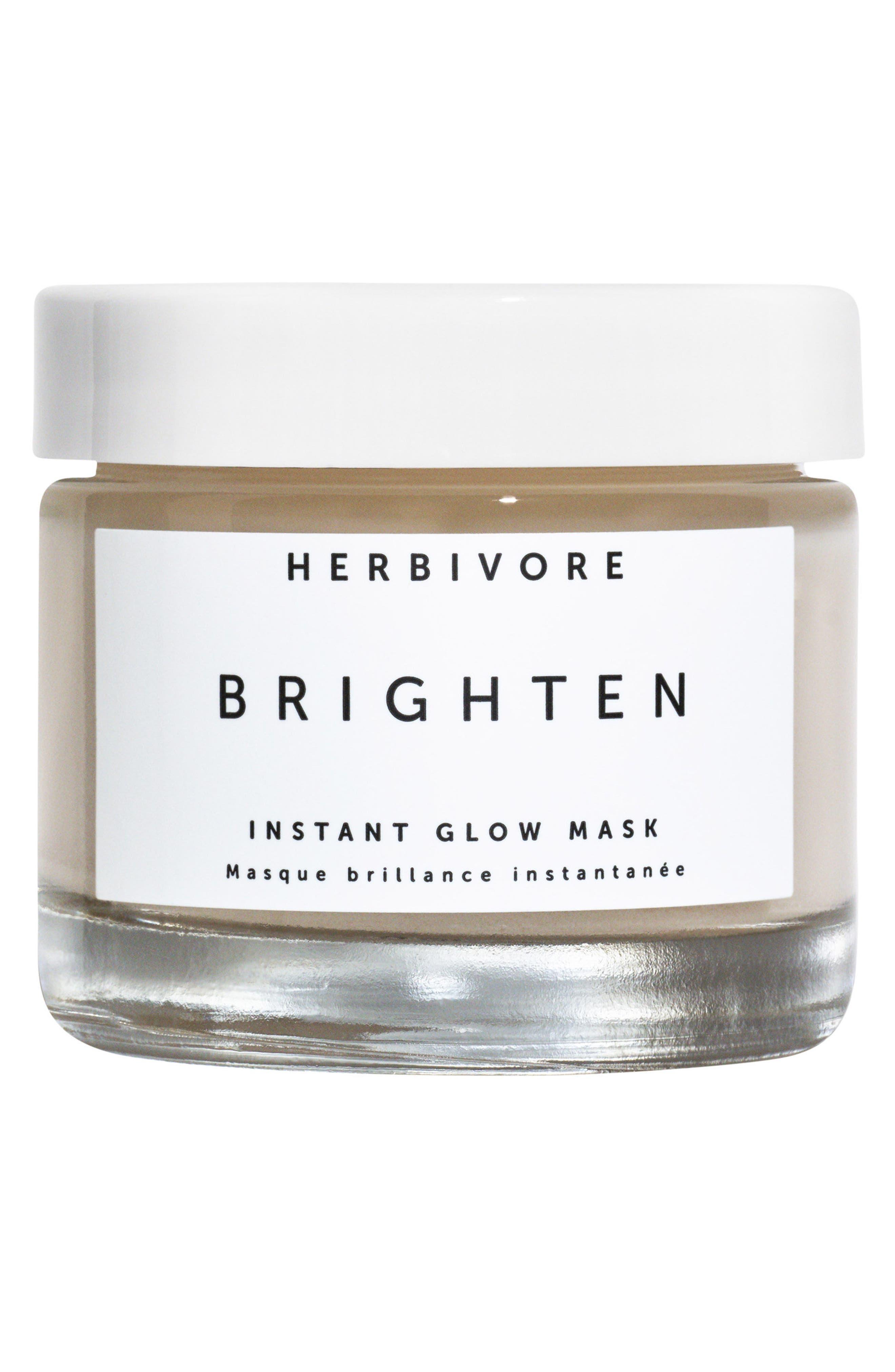 HERBIVORE BOTANICALS, Brighten Pineapple Enzyme + Gemstone Instant Glow Mask, Main thumbnail 1, color, NO COLOR