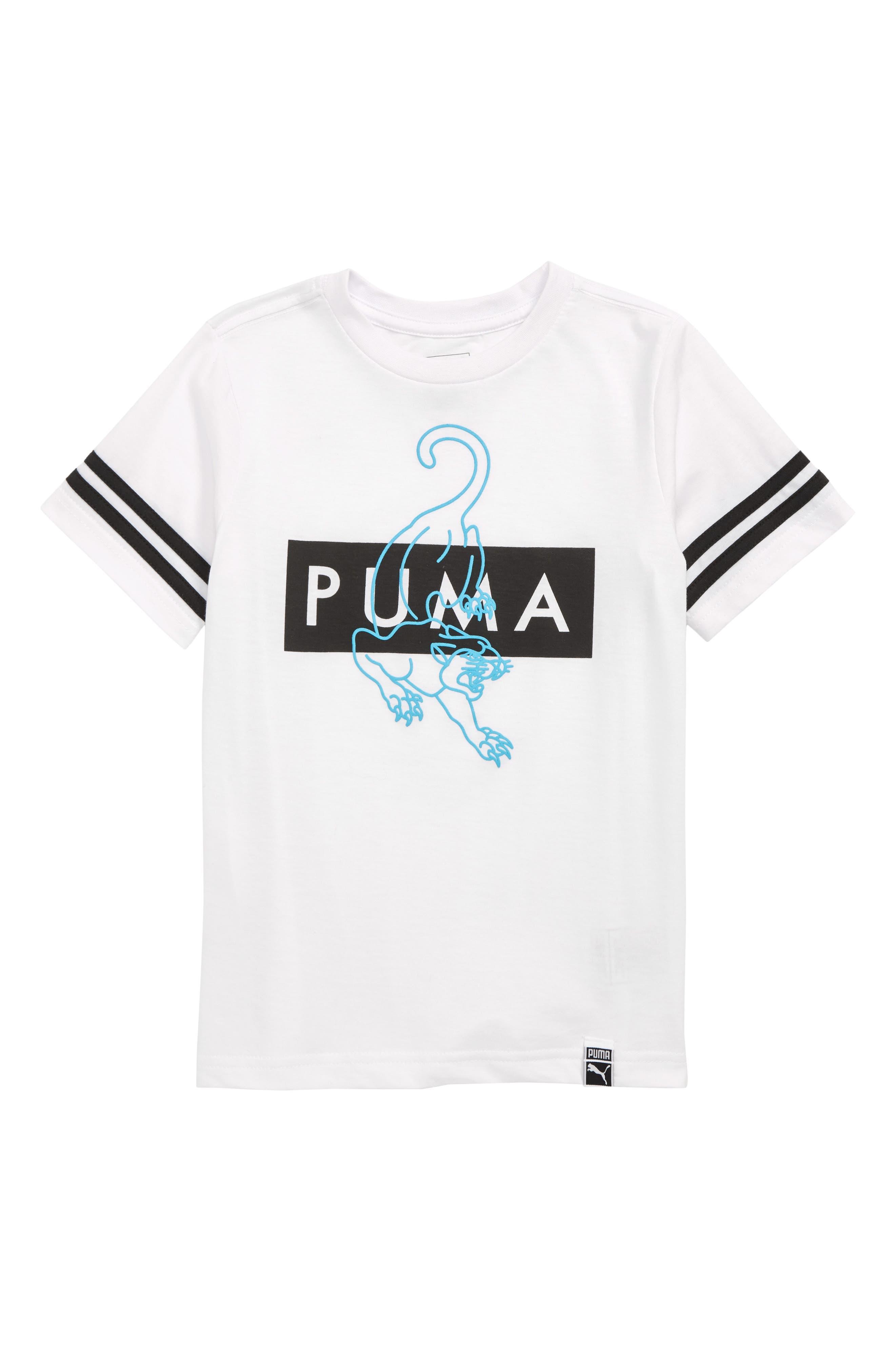 Boys Puma Puma Graphic TShirt Size M (1012)  White