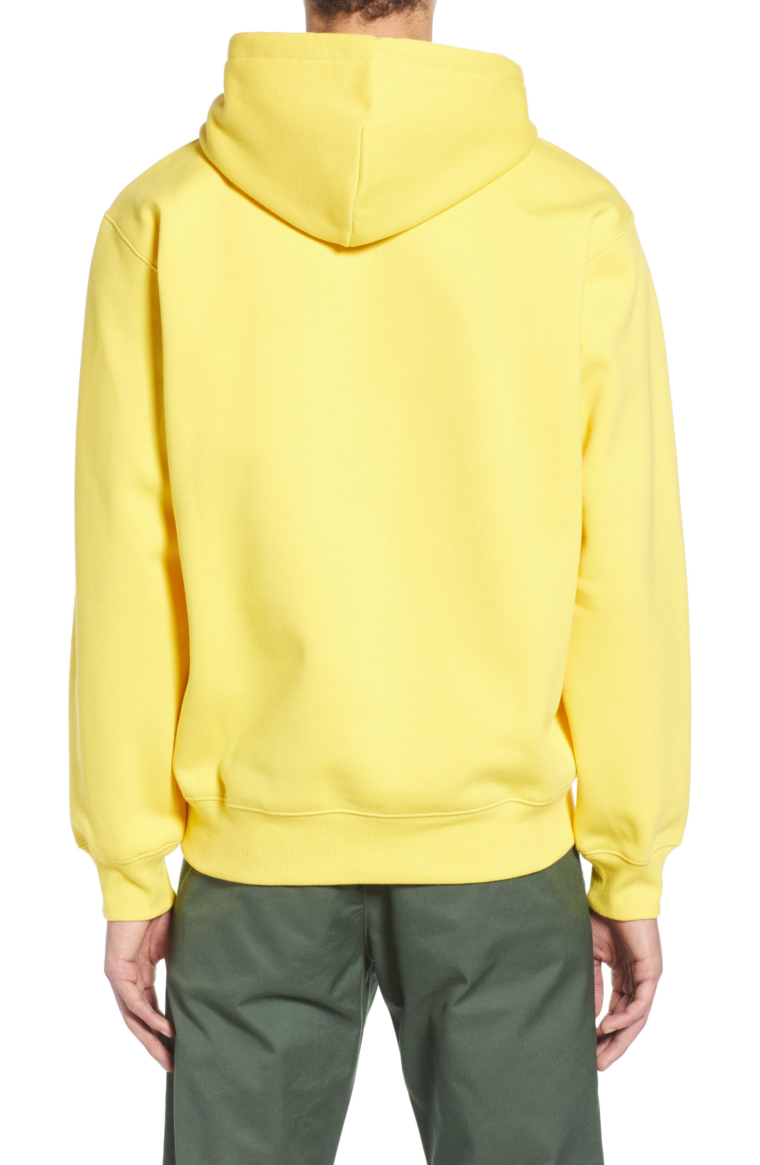 CARHARTT WORK IN PROGRESS, Hooded Sweatshirt, Alternate thumbnail 2, color, PRIMULA / BLACK
