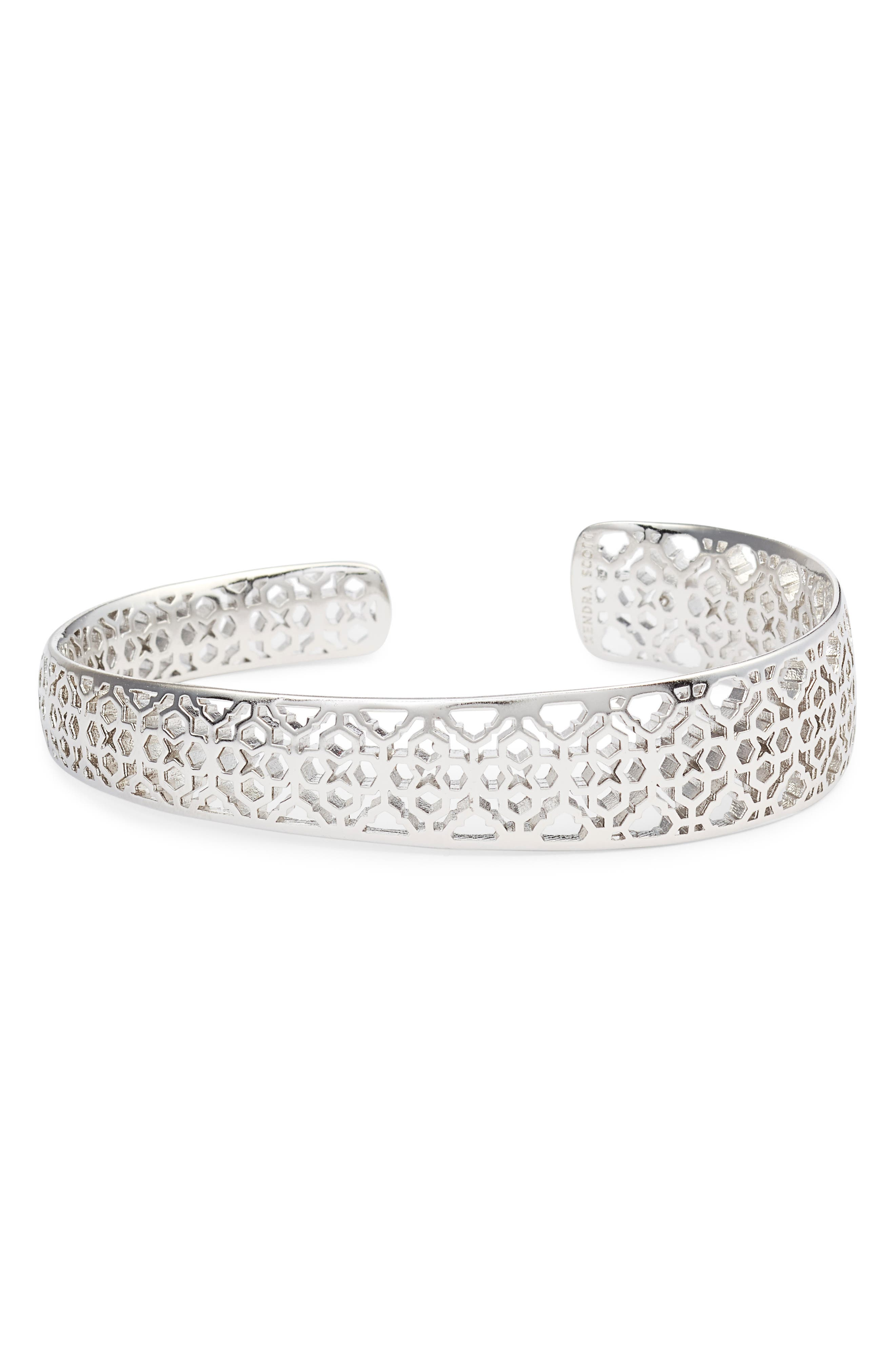 KENDRA SCOTT Uma Filigree Bracelet, Main, color, SILVER FILIGREE