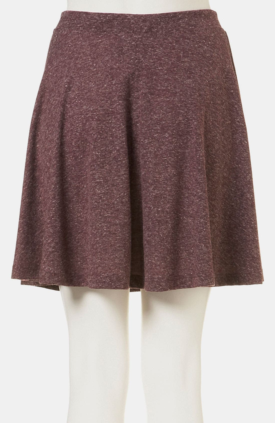 TOPSHOP, 'Andie' Skater Skirt, Alternate thumbnail 3, color, 602