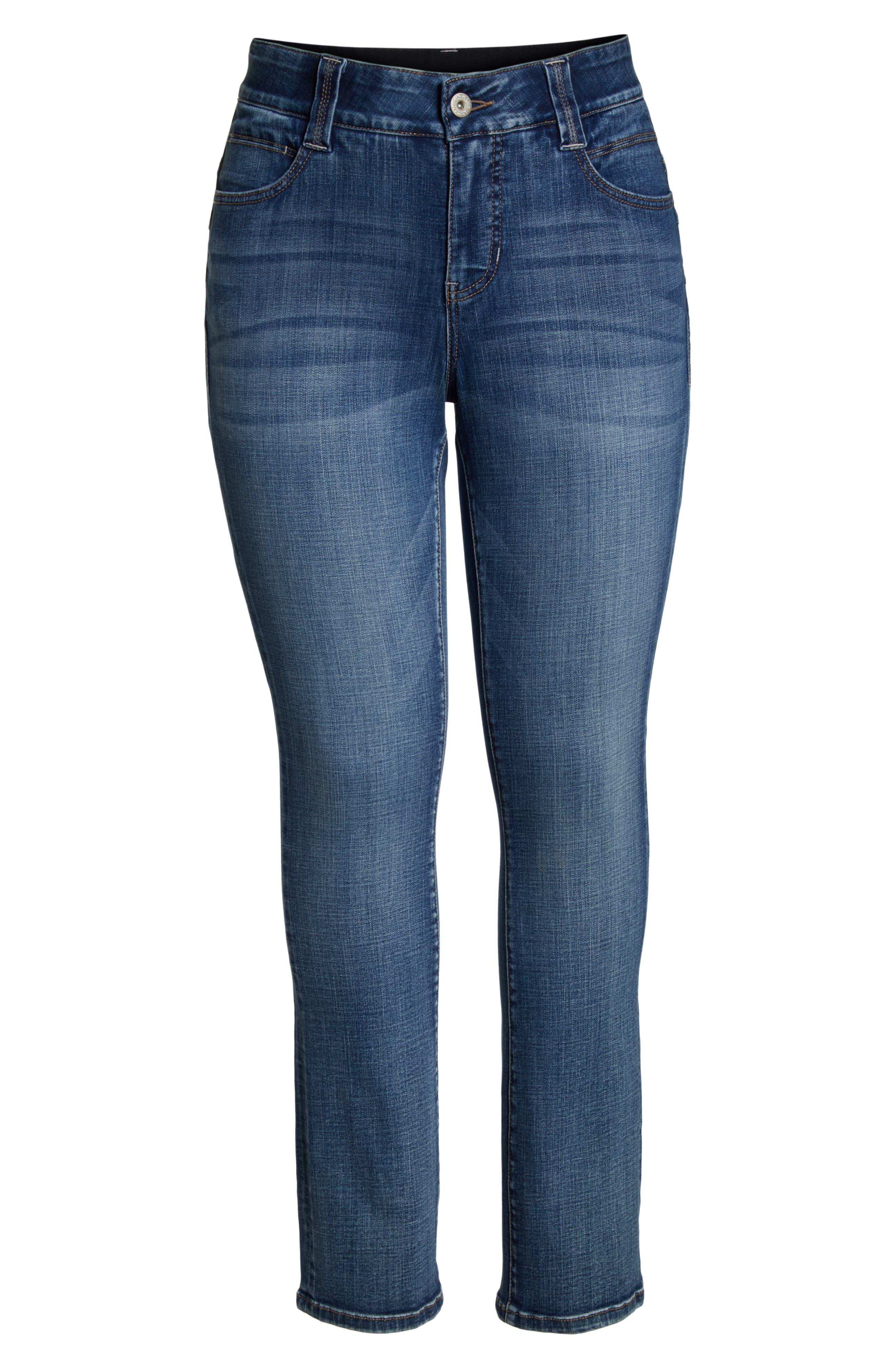 JAG JEANS, Eloise Bootcut Stretch Jeans, Alternate thumbnail 7, color, MED INDIGO