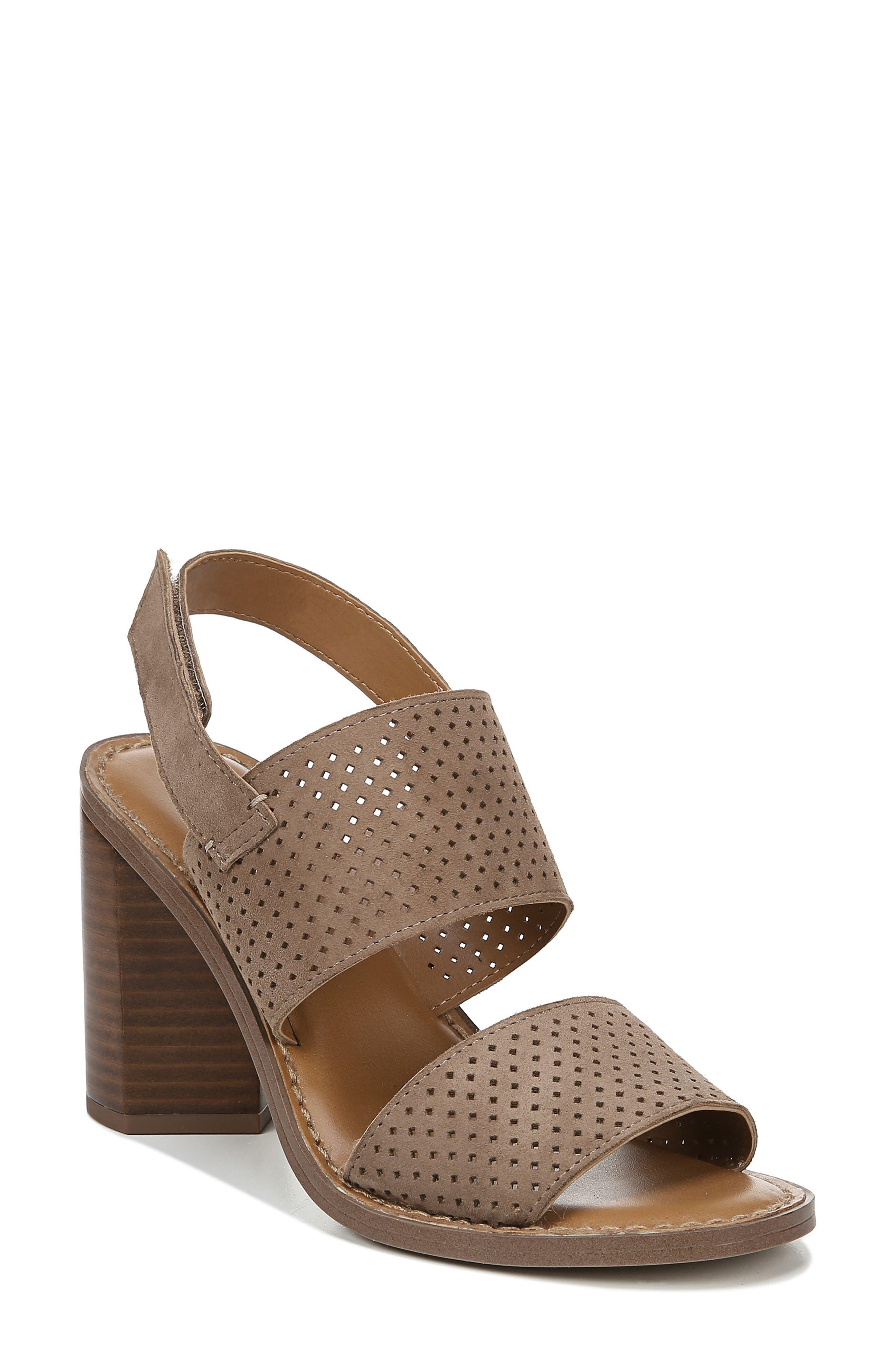 Franco Sarto Devine Perforated Slingback Sandal, Beige